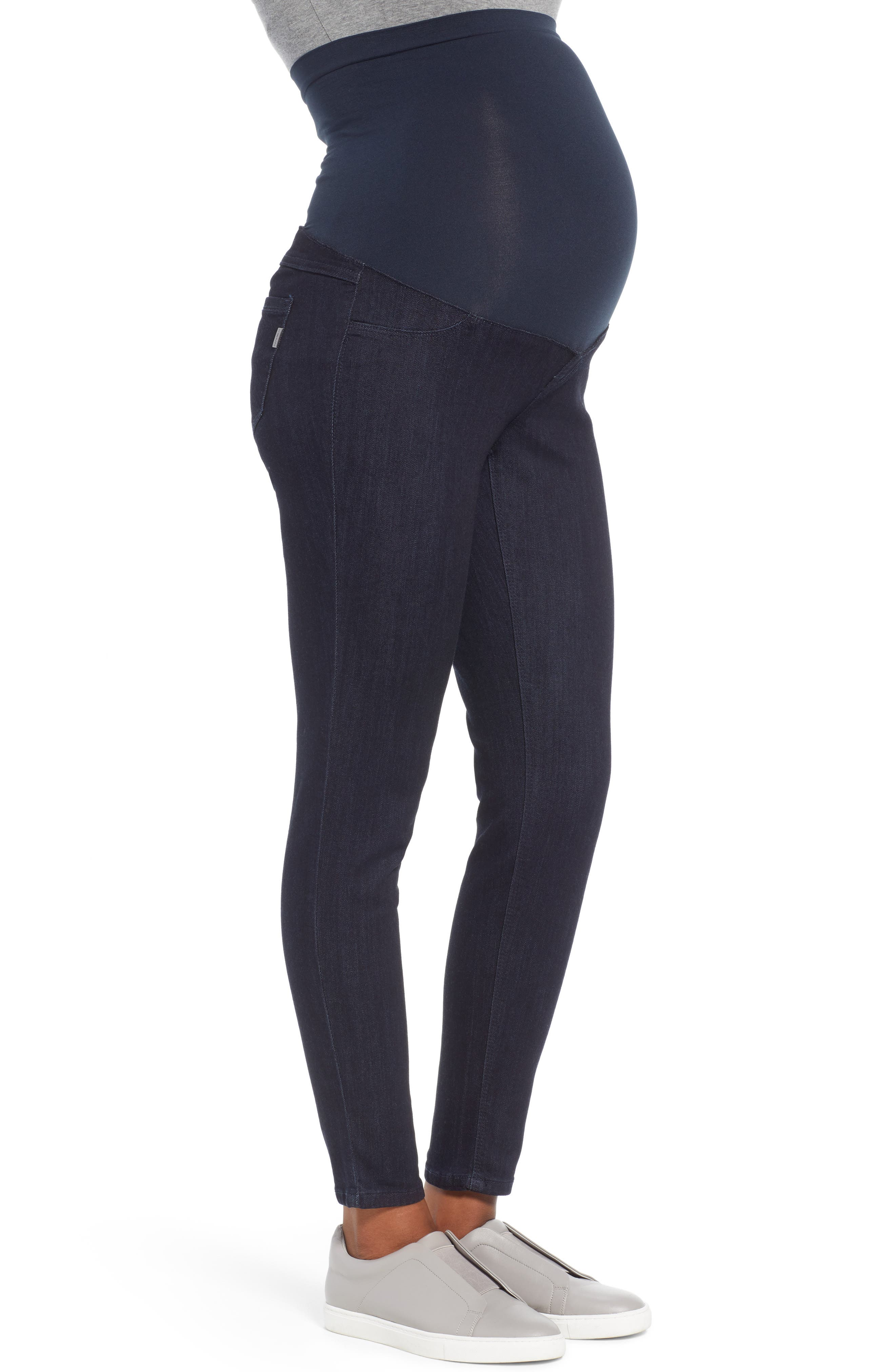Ankle Skinny Maternity Jeans,                             Alternate thumbnail 3, color,                             RINSE