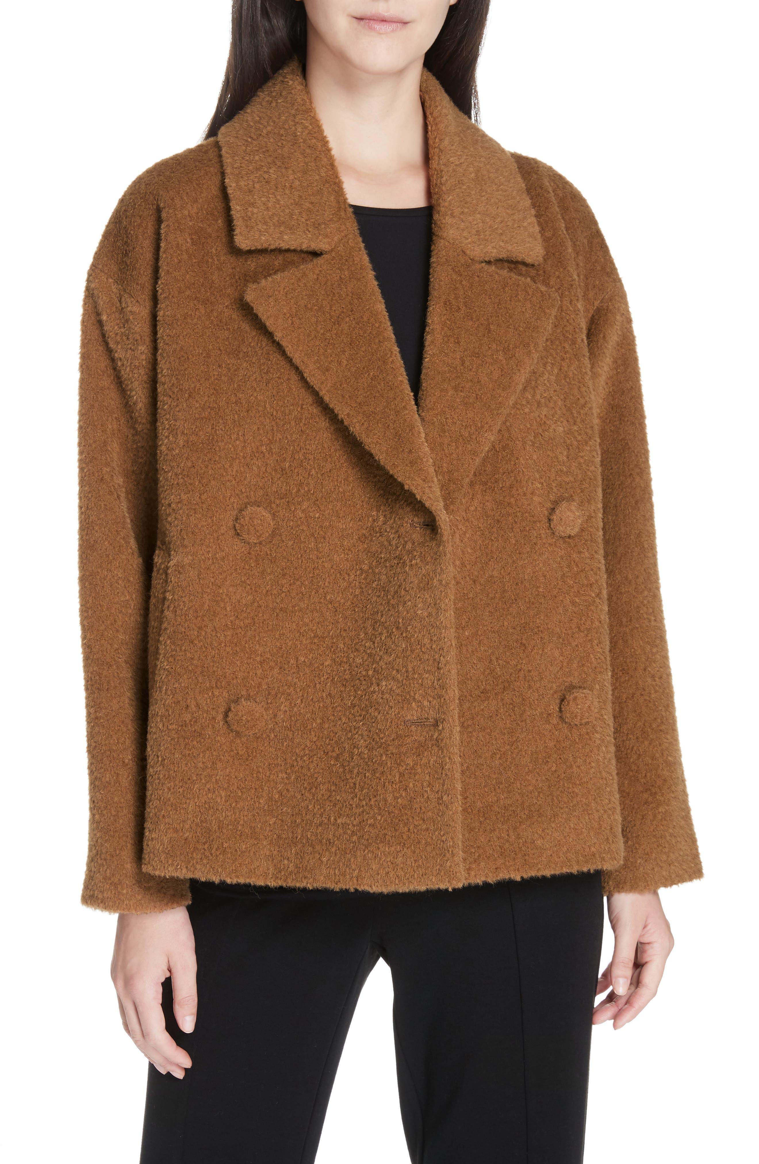 women's eileen fisher wool & alpaca blend short jacket