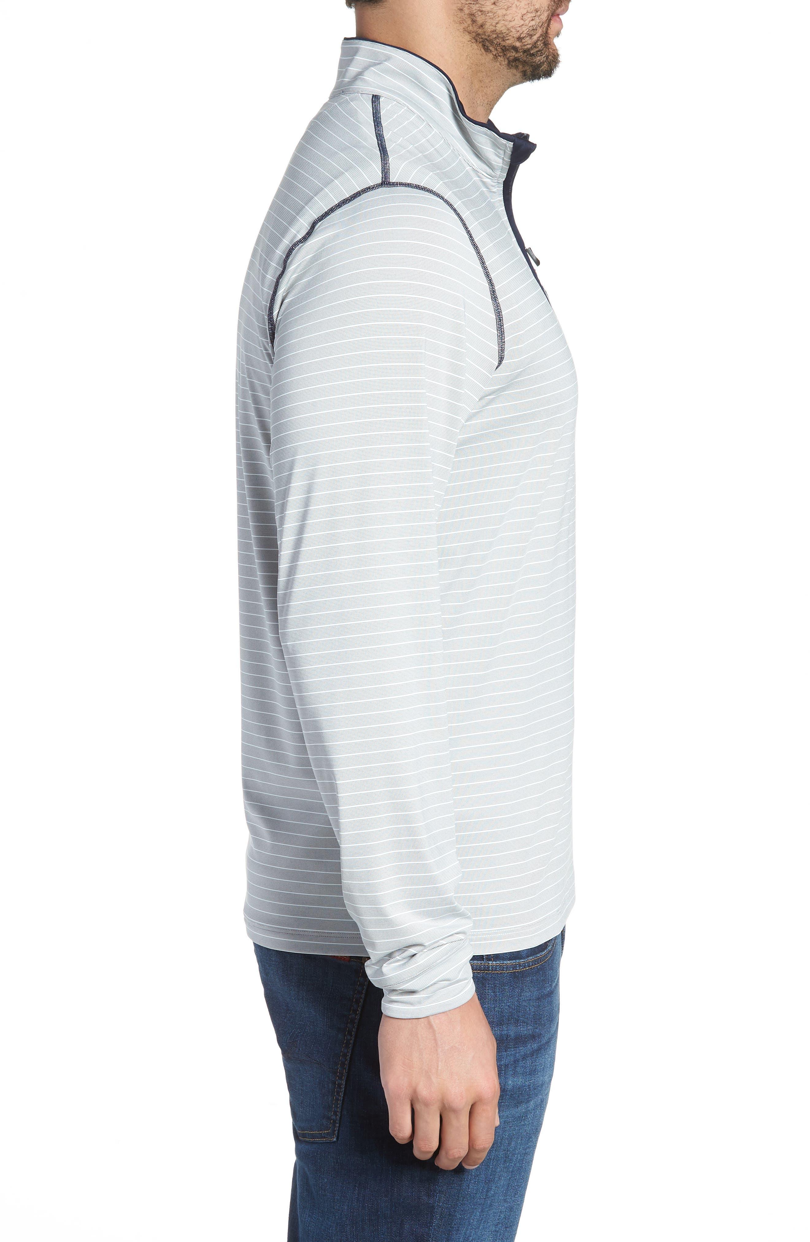 Meridian - Denver Broncos Regular Fit Half Zip Pullover,                             Alternate thumbnail 3, color,                             NAVY