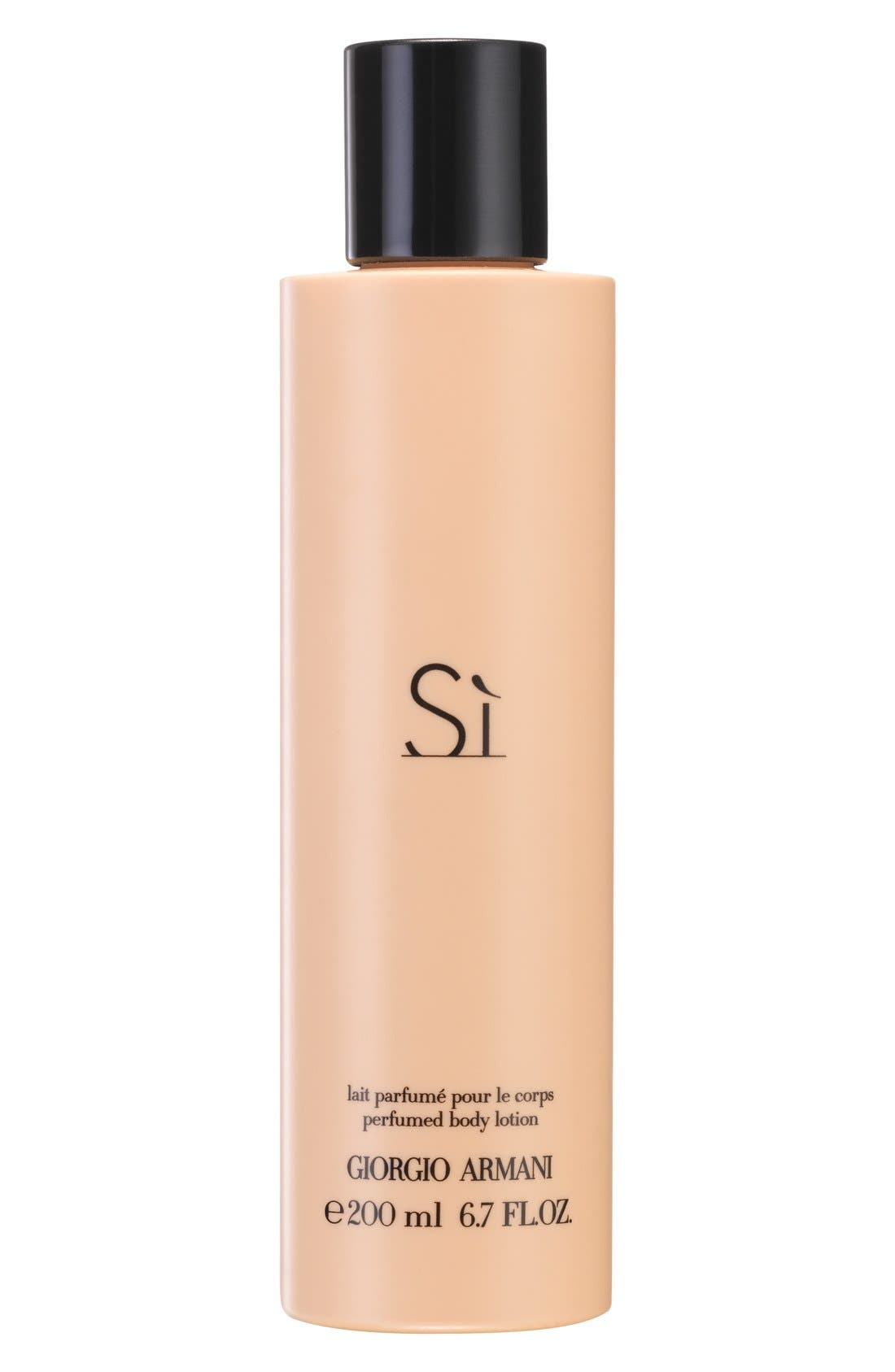 'Si' Body Lotion,                             Main thumbnail 1, color,                             000