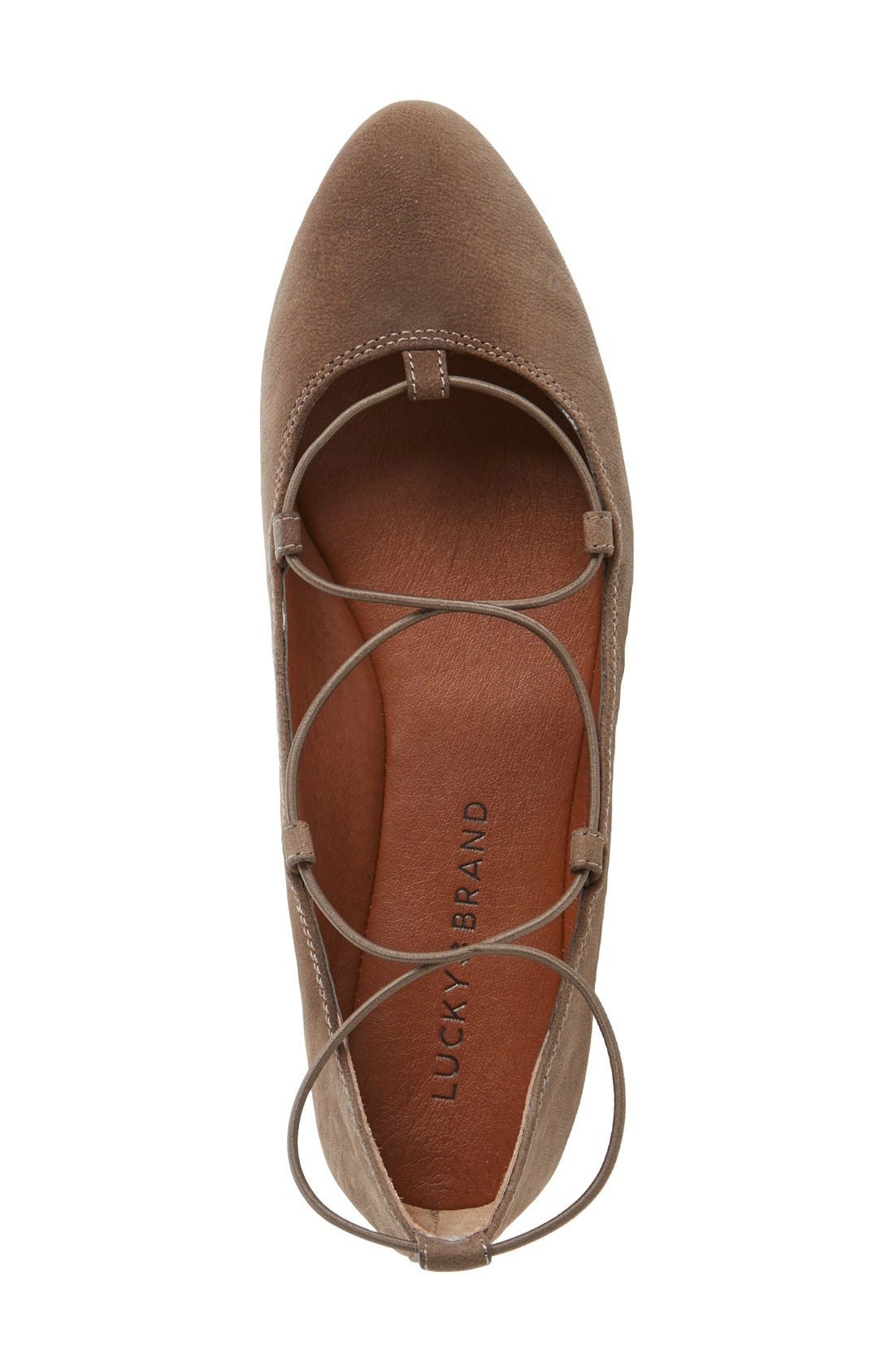 'Aviee' Lace-Up Flat,                             Alternate thumbnail 24, color,