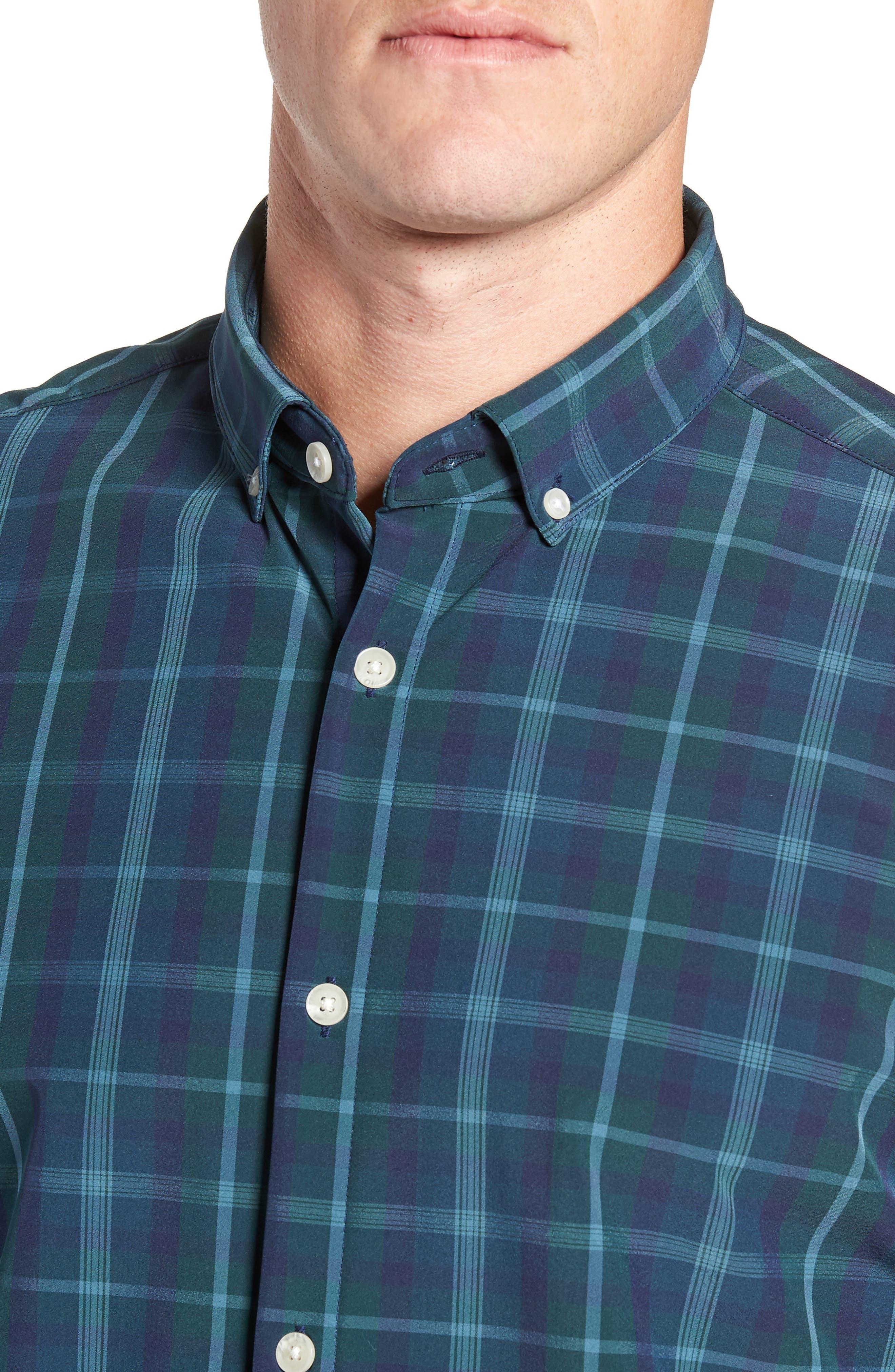 Northcross Plaid Sport Shirt,                             Alternate thumbnail 2, color,                             GREEN