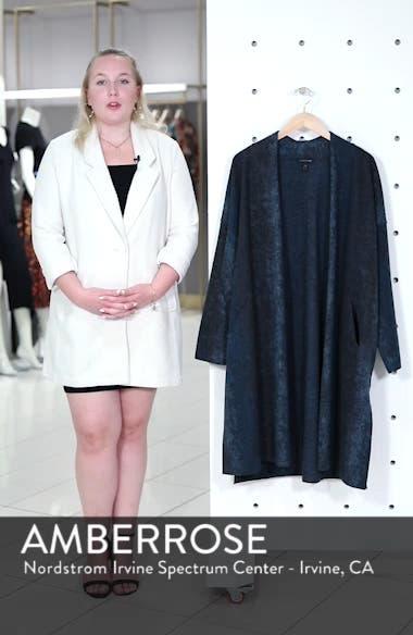 Long Wool Blend Kimono Jacket, sales video thumbnail