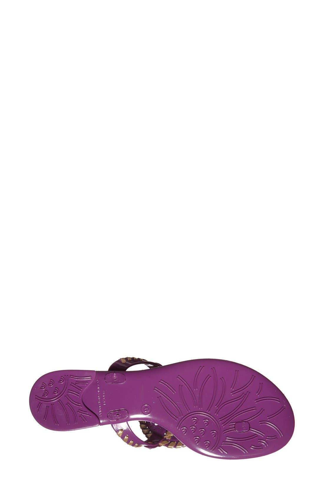 'Georgica' Jelly Flip Flop,                             Alternate thumbnail 155, color,
