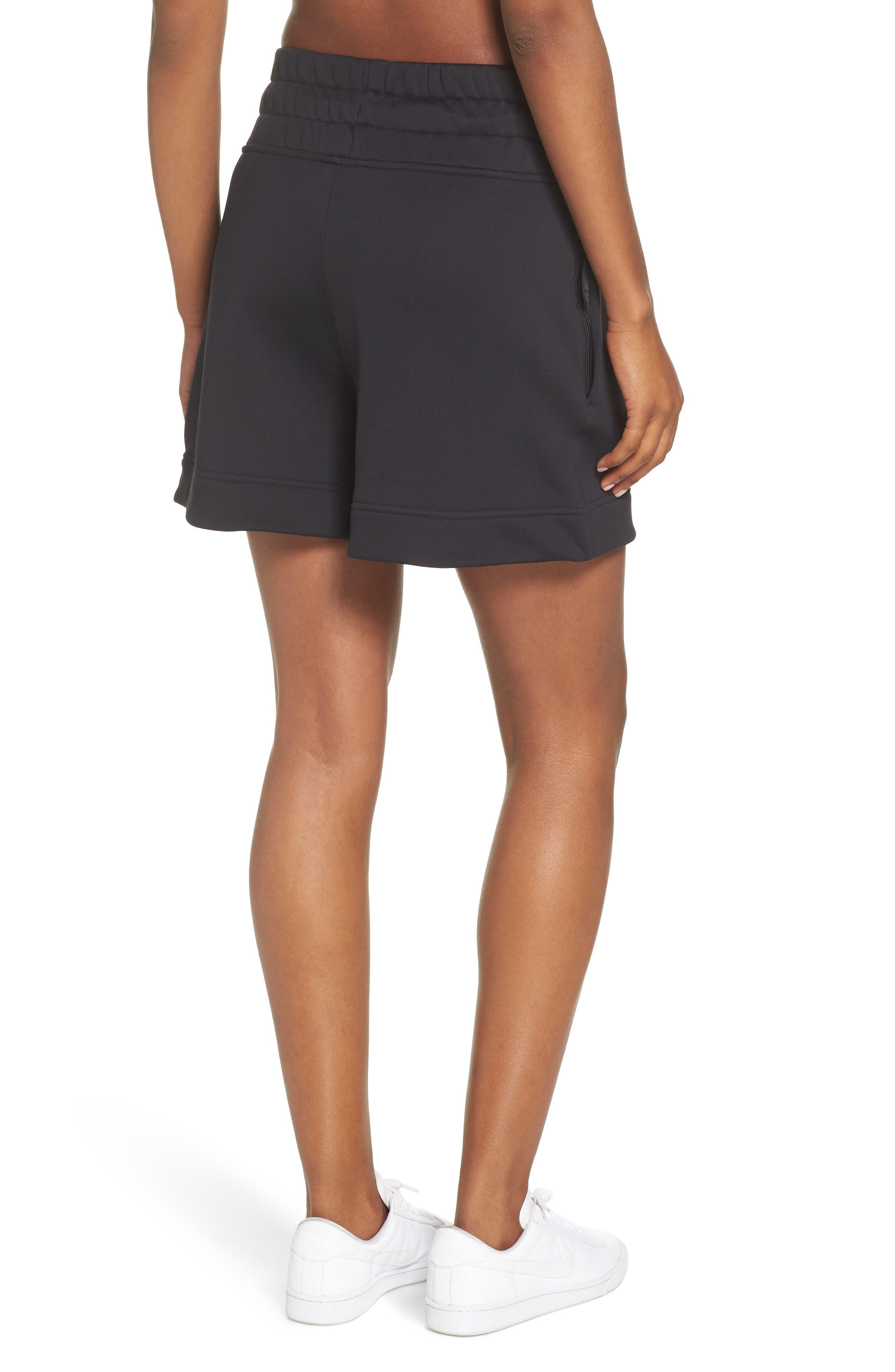 NikeLab Collection Women's Fleece Shorts,                             Alternate thumbnail 2, color,                             BLACK/ BLACK