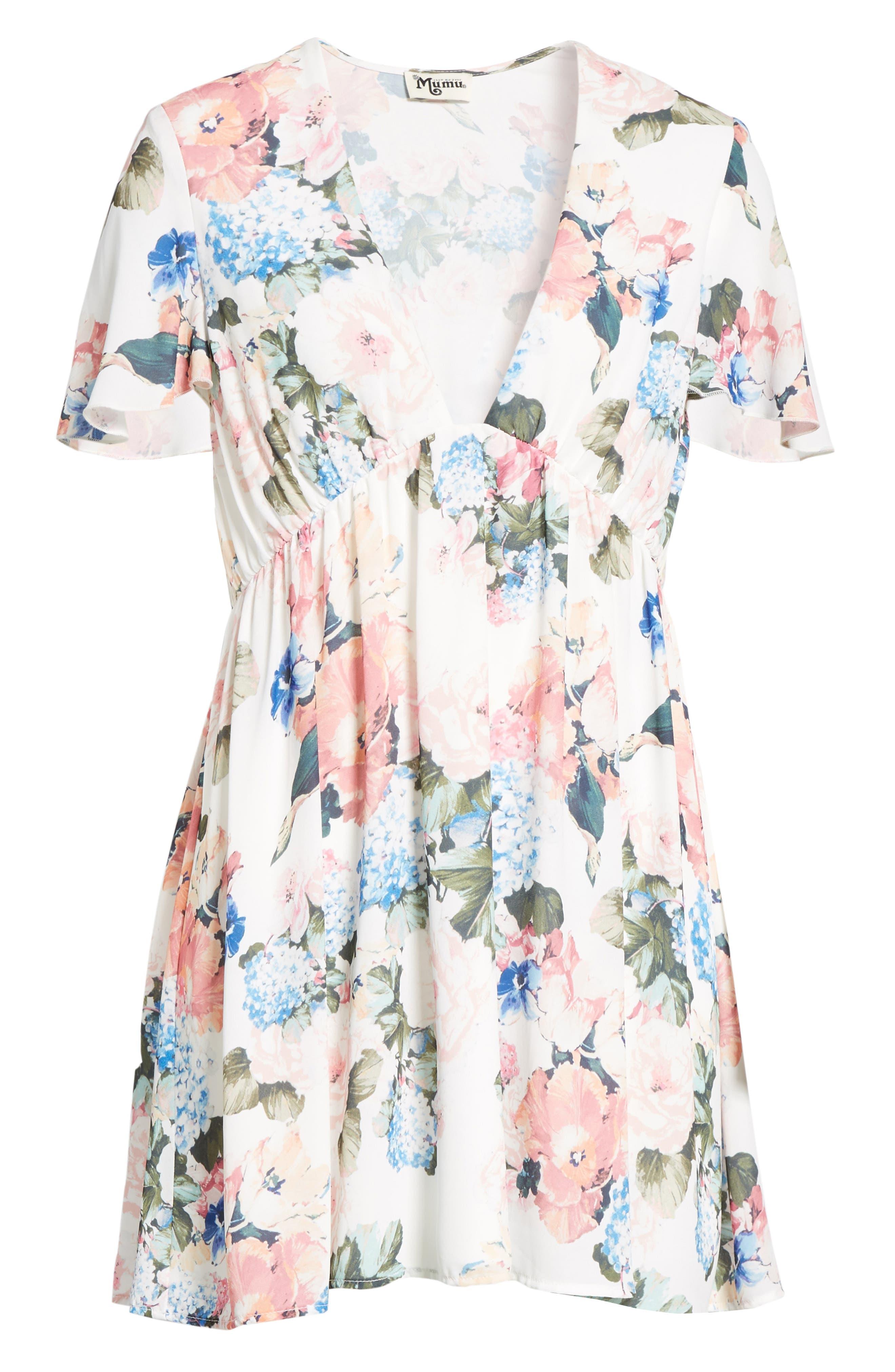 Austin Babydoll Dress,                             Alternate thumbnail 6, color,                             100