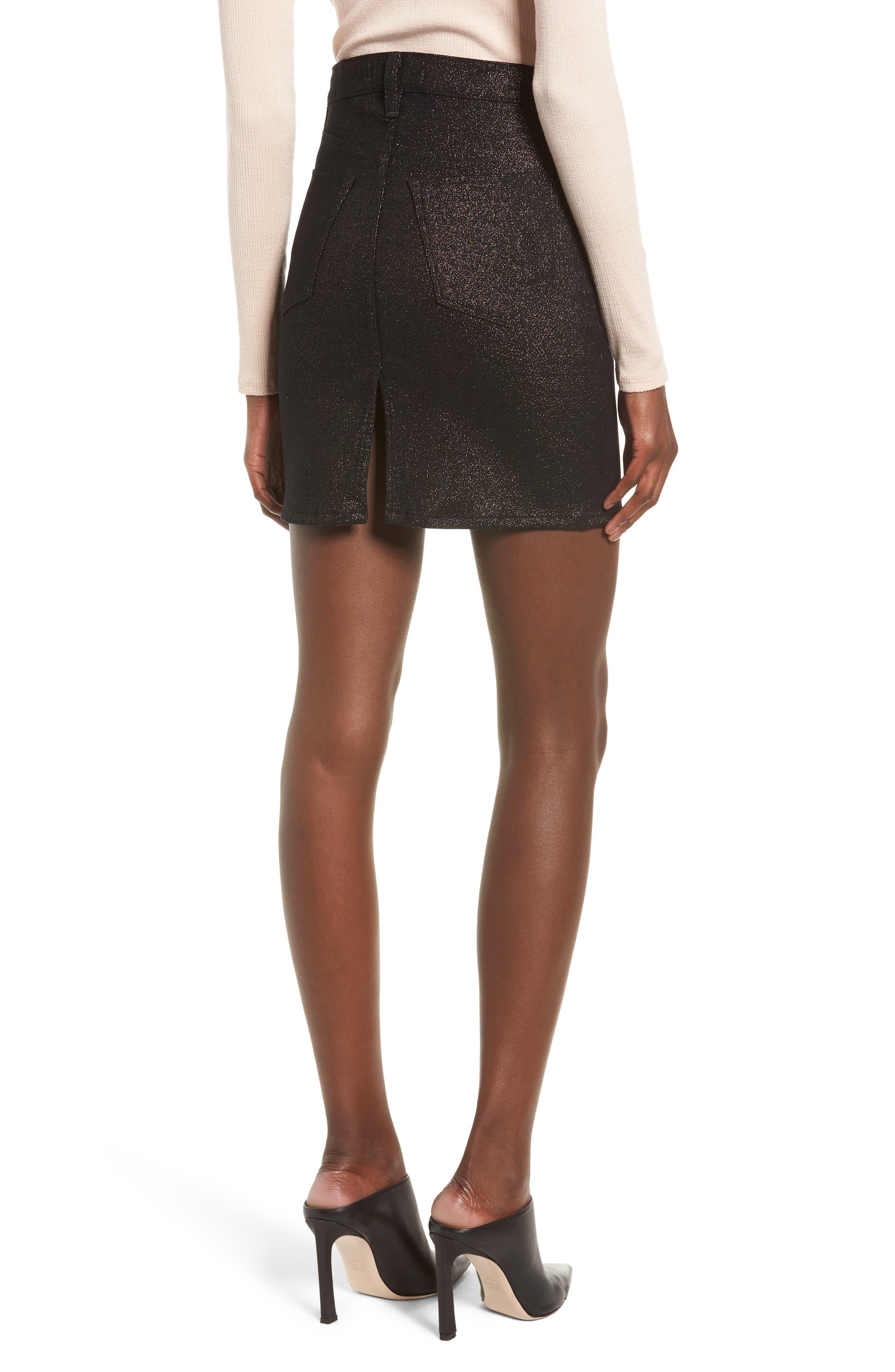 Lulu Sparkle Miniskirt,                             Alternate thumbnail 2, color,                             GOLD STELLAR
