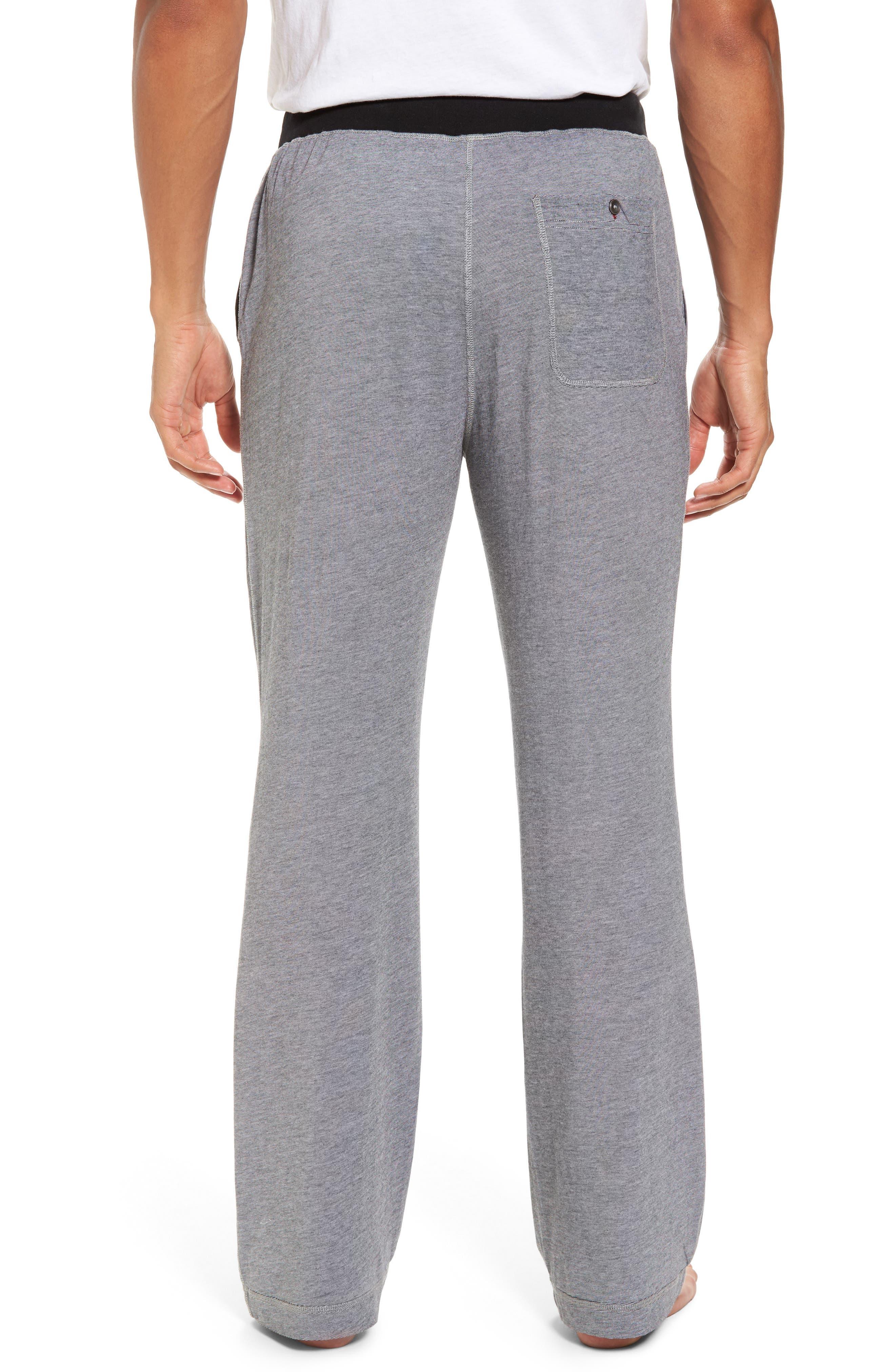 Pima Cotton & Modal Lounge Pants,                             Alternate thumbnail 2, color,                             001