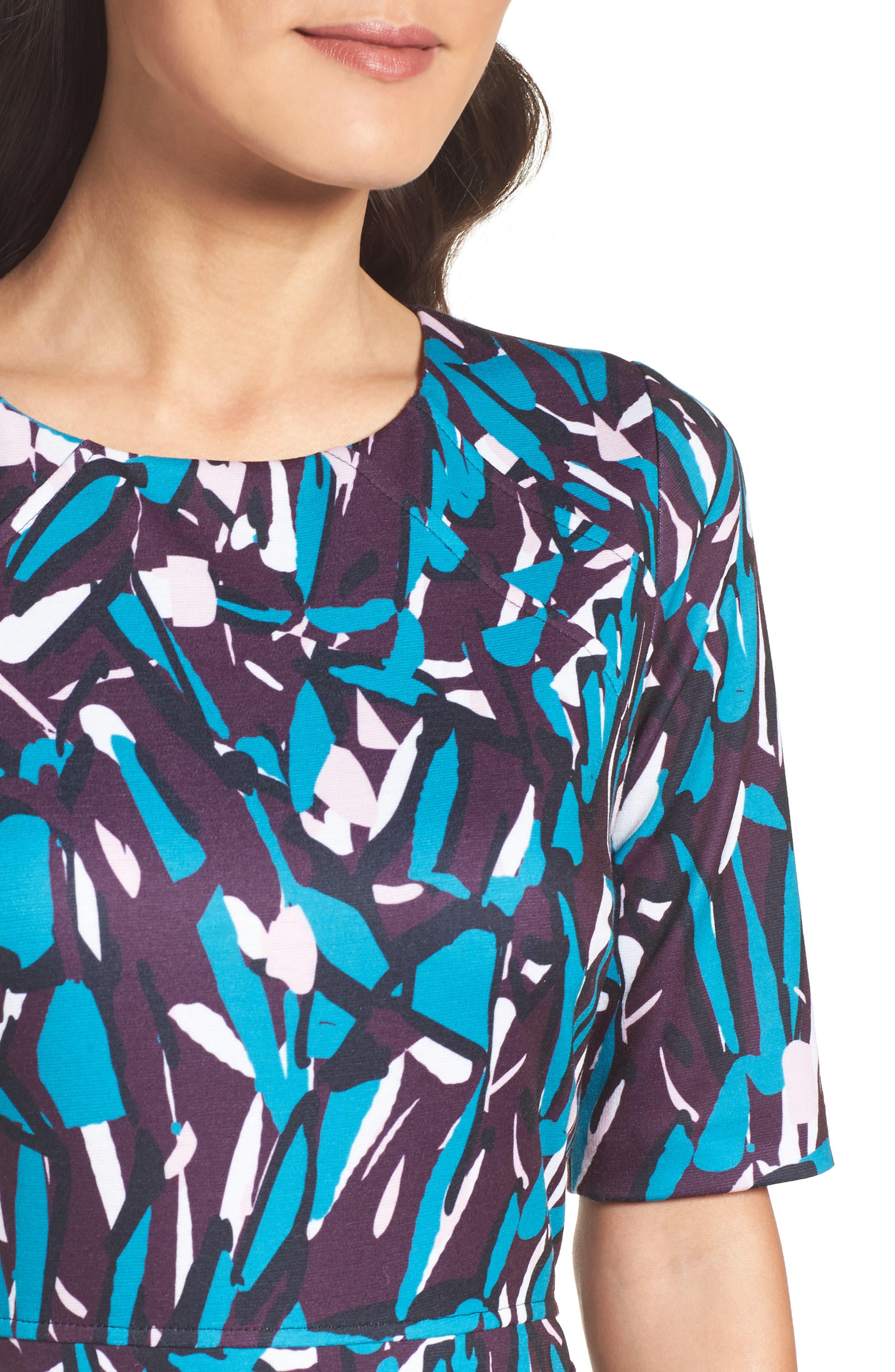 Ponte Pencil Dress,                             Alternate thumbnail 4, color,                             553