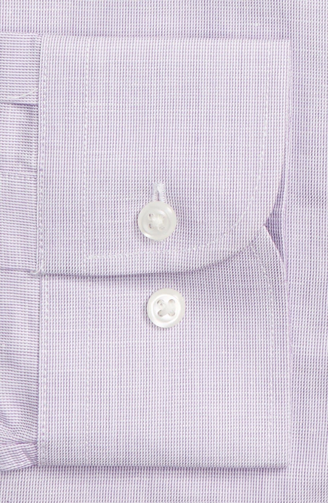 Trim Fit Solid Linen & Cotton Dress Shirt,                             Alternate thumbnail 27, color,