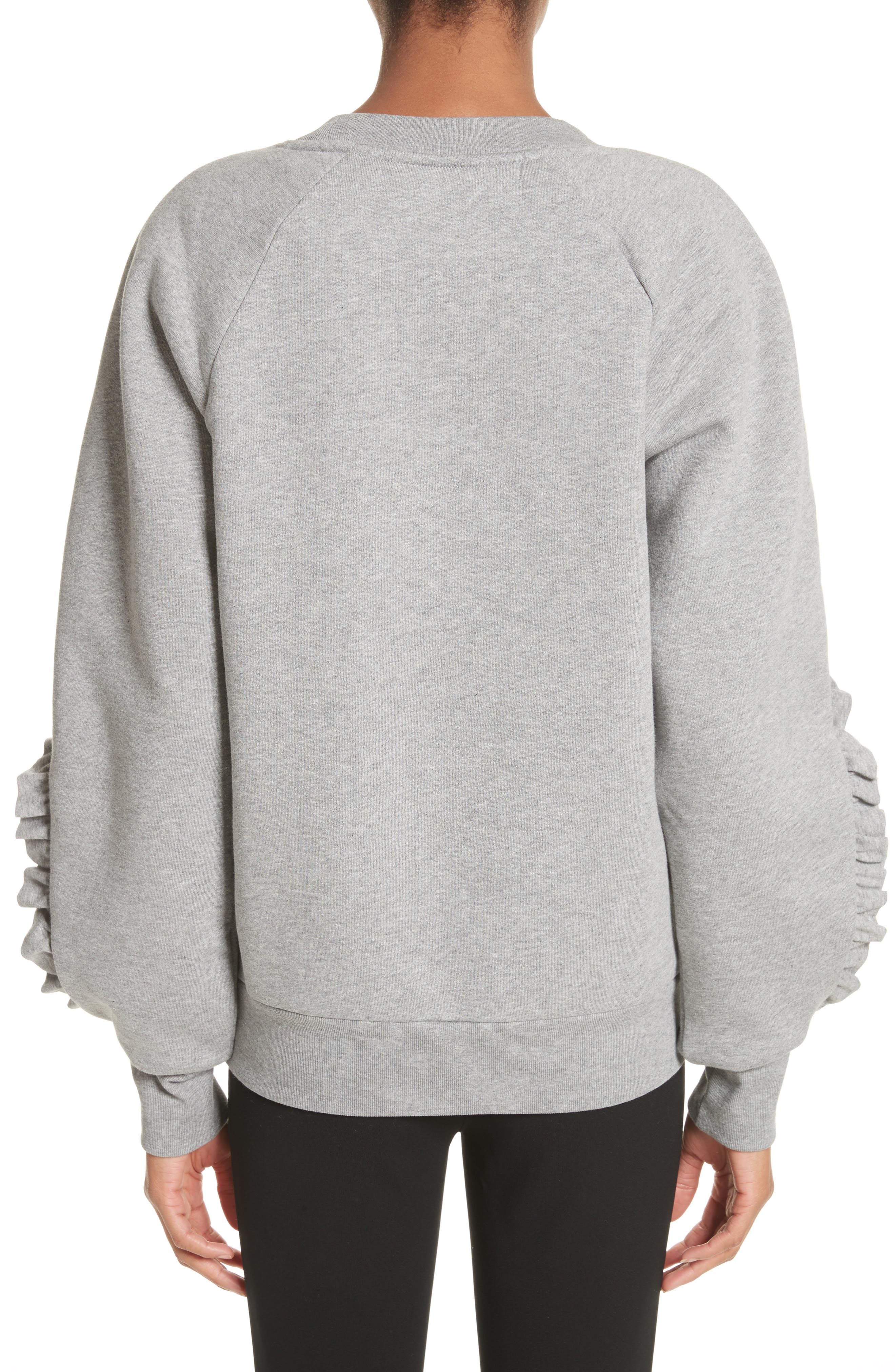 Kupa Ruffle Sleeve Sweatshirt,                             Alternate thumbnail 3, color,