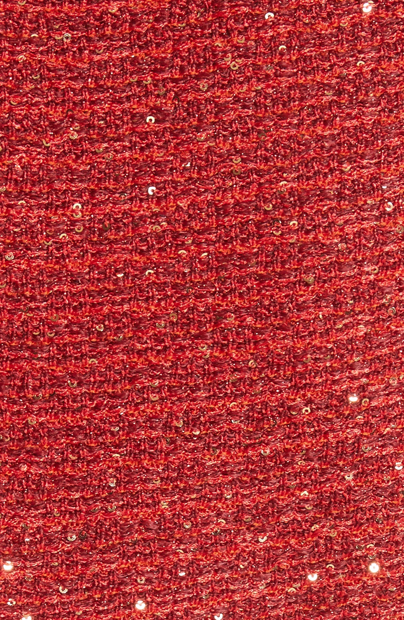 Glamour Sequin Knit Sheath Dress,                             Alternate thumbnail 6, color,                             SIENNA MULTI