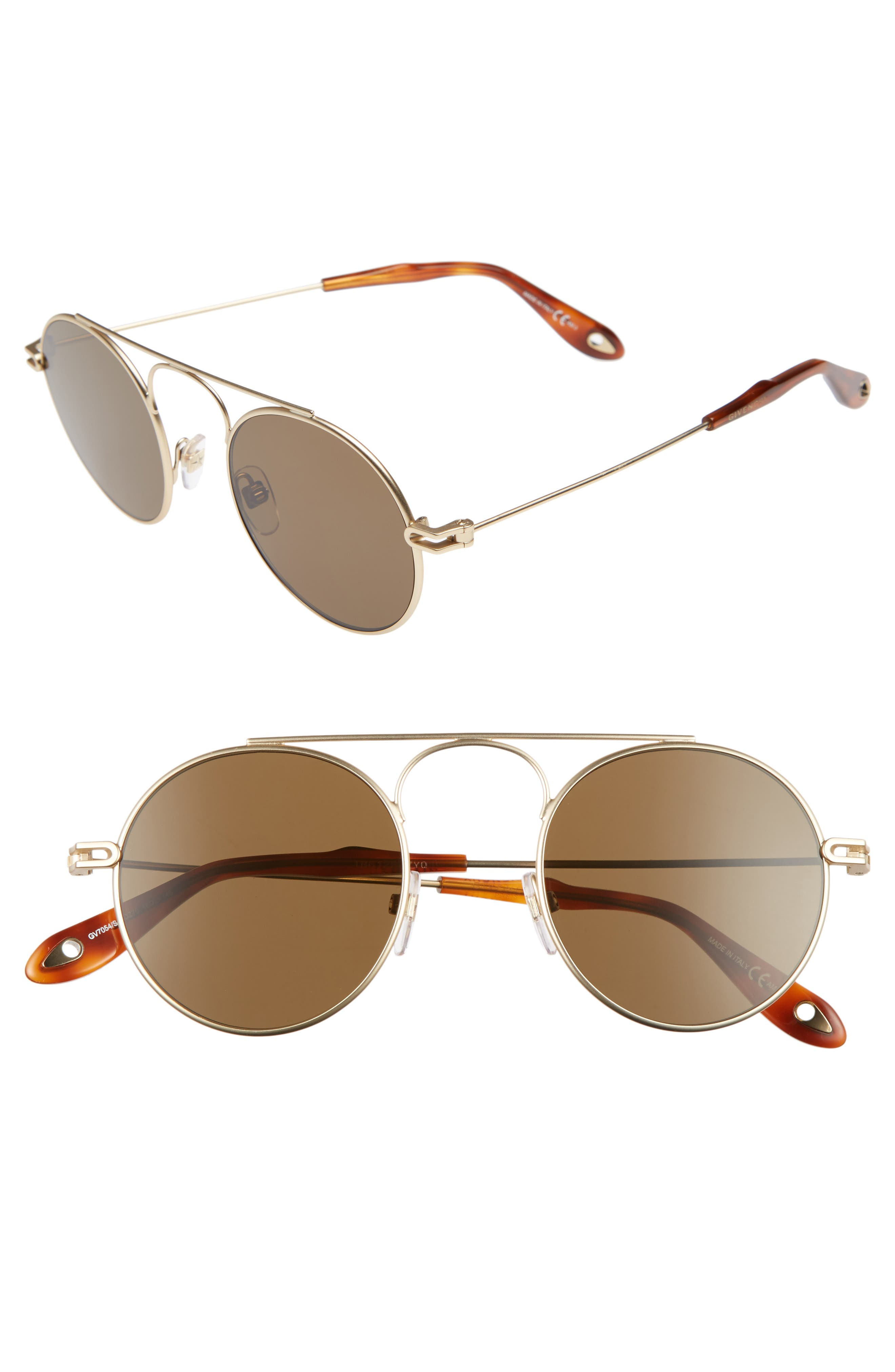 48mm Retro Sunglasses,                             Main thumbnail 1, color,                             SMTT GOLD