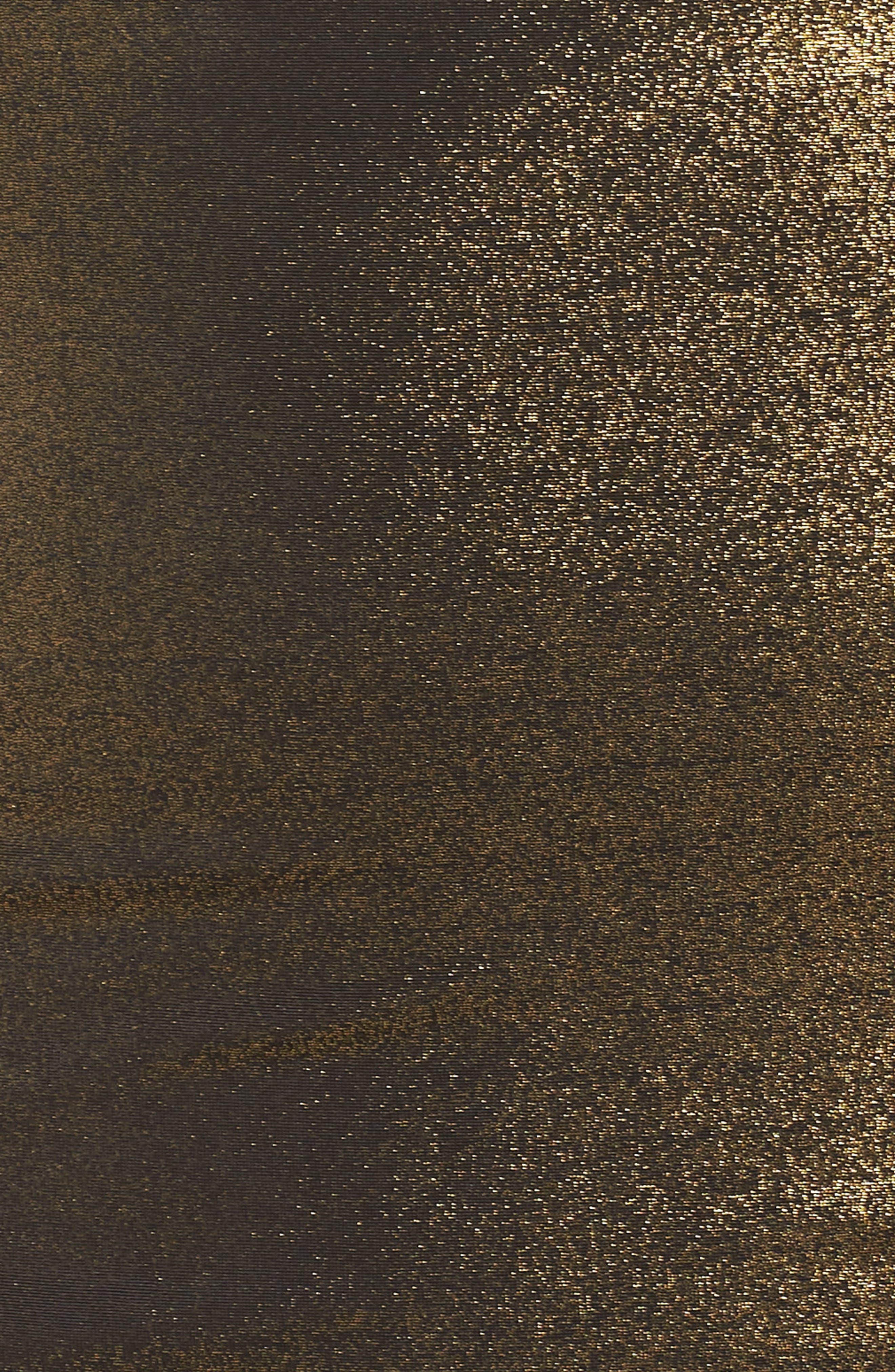 Cowl Neck Minidress,                             Alternate thumbnail 5, color,                             METALLIC GOLD