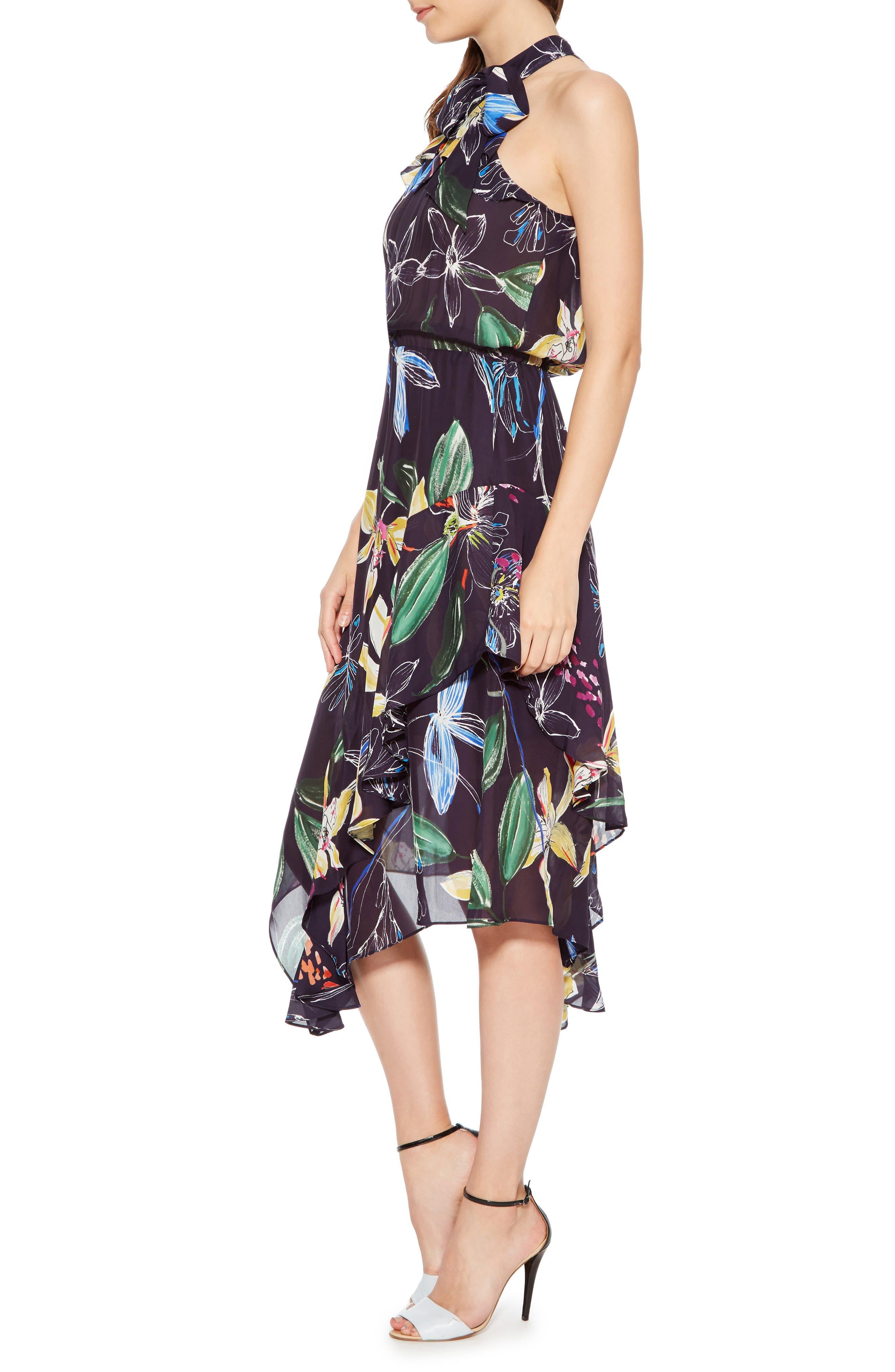 Julieta Tiered Dress,                             Alternate thumbnail 3, color,                             COSMIC FLEUR