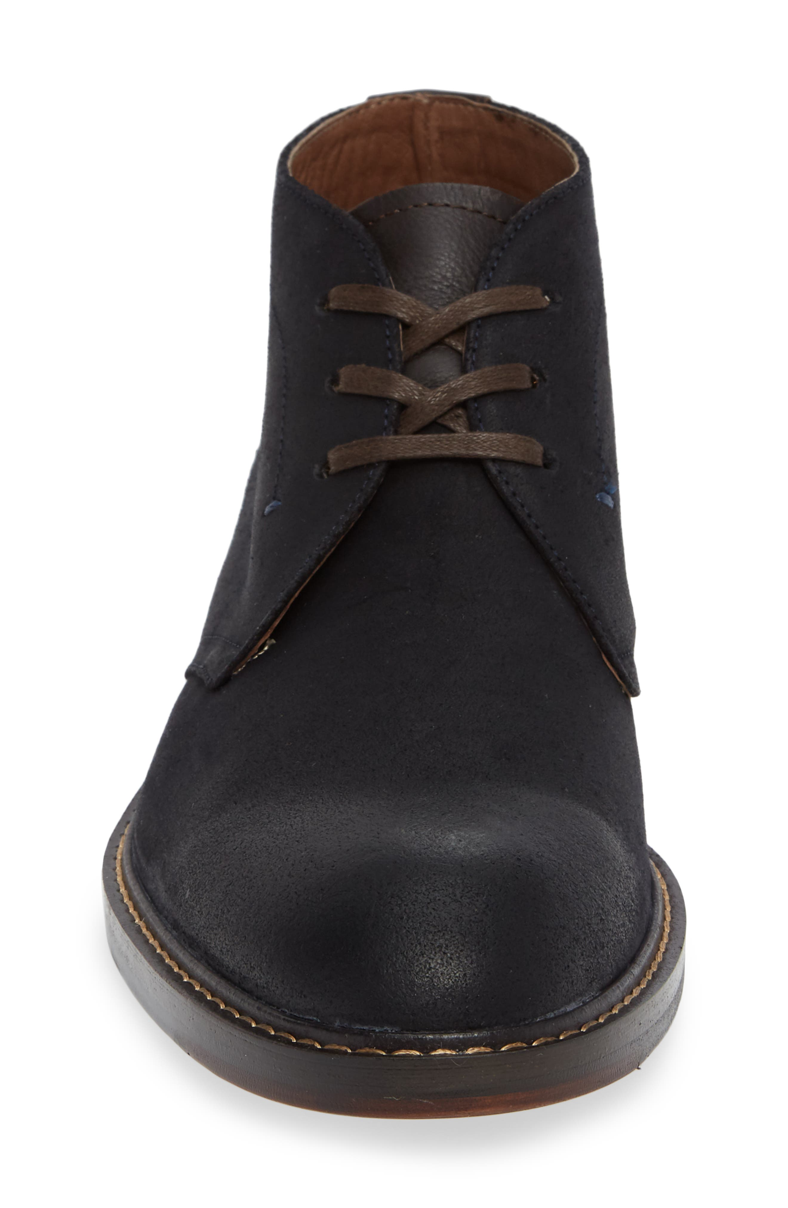 Auburn Chukka Boot,                             Alternate thumbnail 4, color,                             MIDNIGHT SUEDE