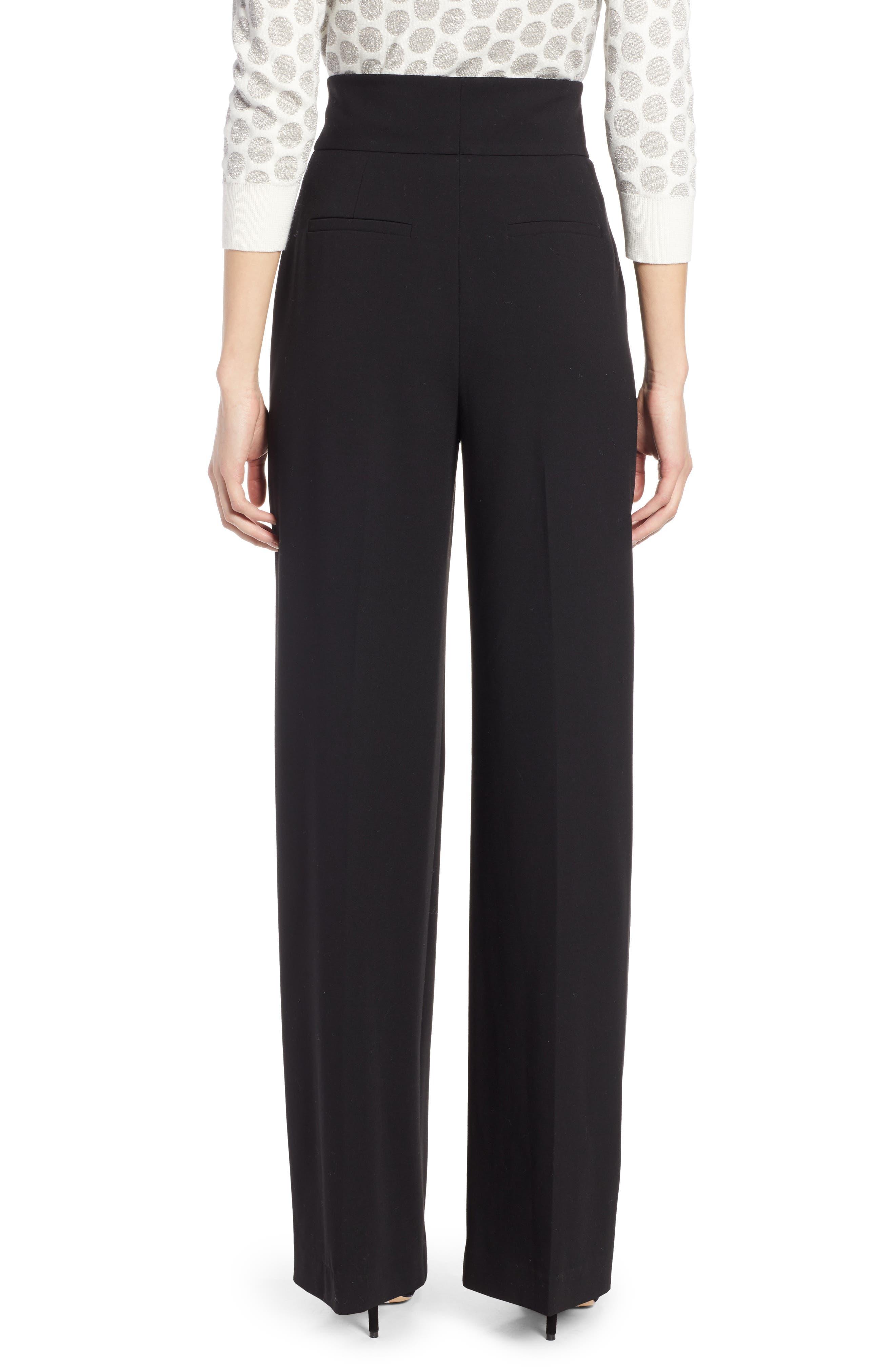 x Atlantic-Pacific High Waist Wide Leg Pants,                             Alternate thumbnail 3, color,                             BLACK