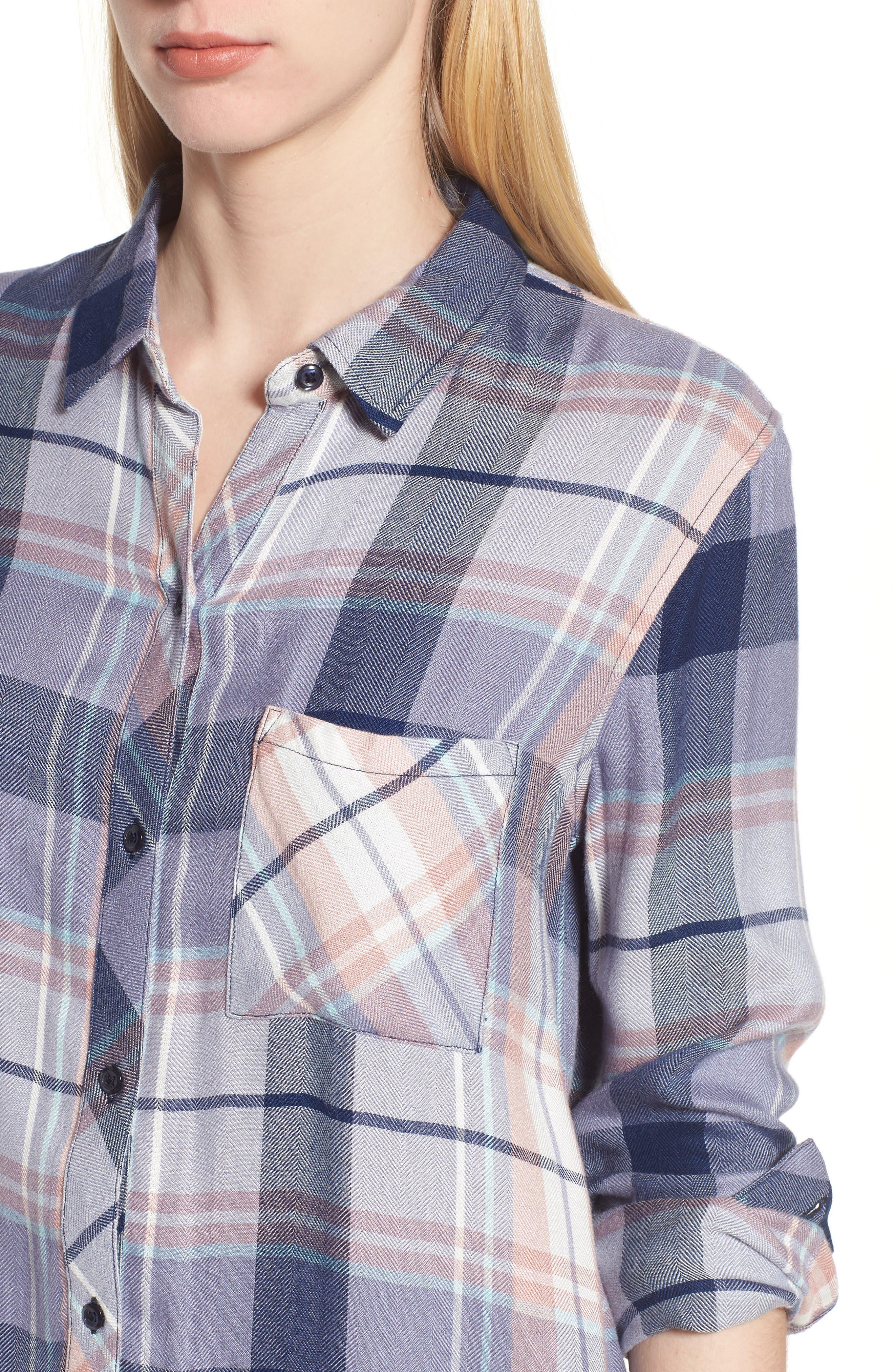 Hunter Plaid Shirt,                             Alternate thumbnail 476, color,