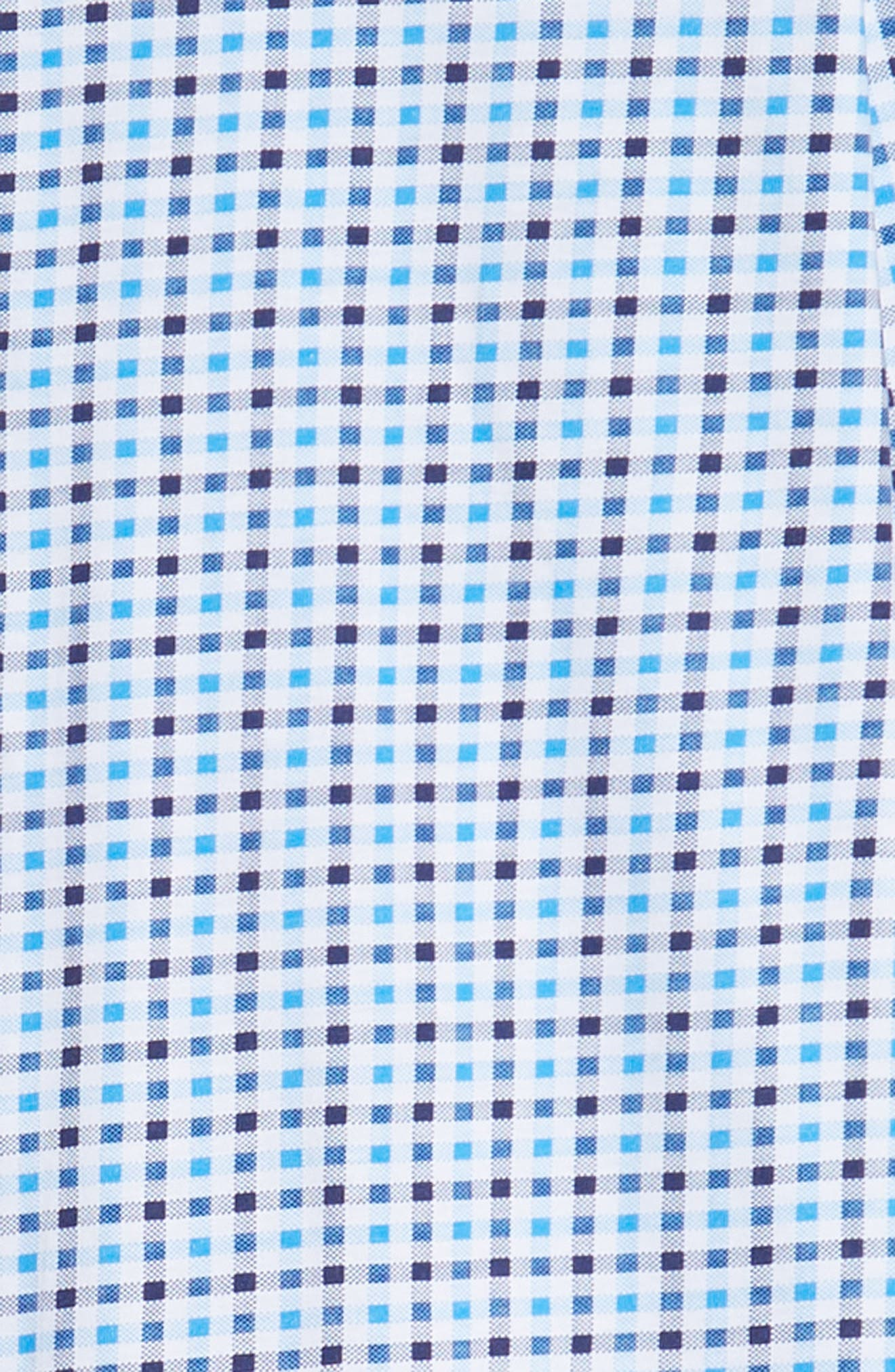 Trim Fit Knit Sport Shirt,                             Alternate thumbnail 6, color,                             BLUE