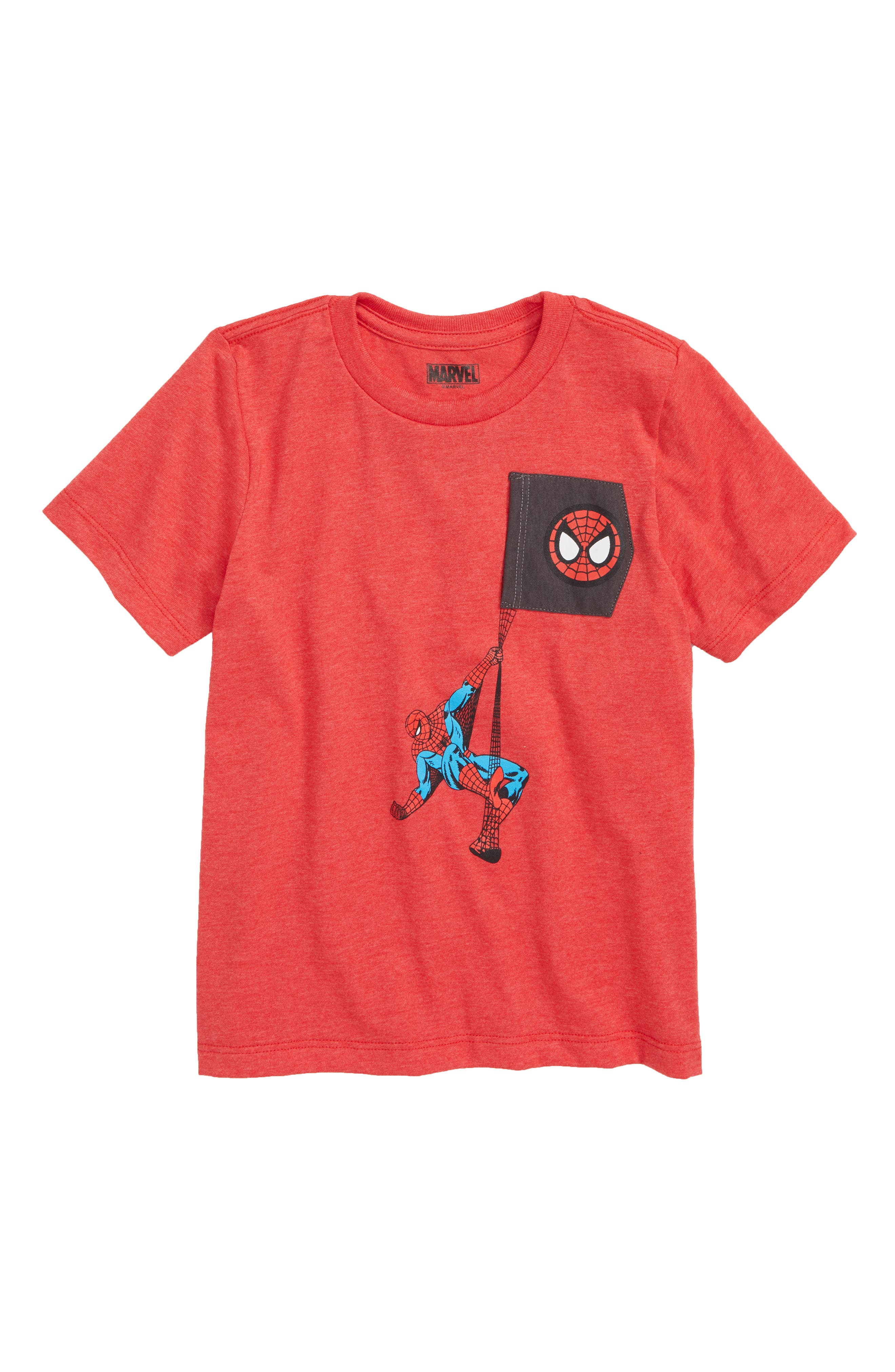 Spiderman Graphic T-Shirt,                             Main thumbnail 1, color,                             HEATHER RED