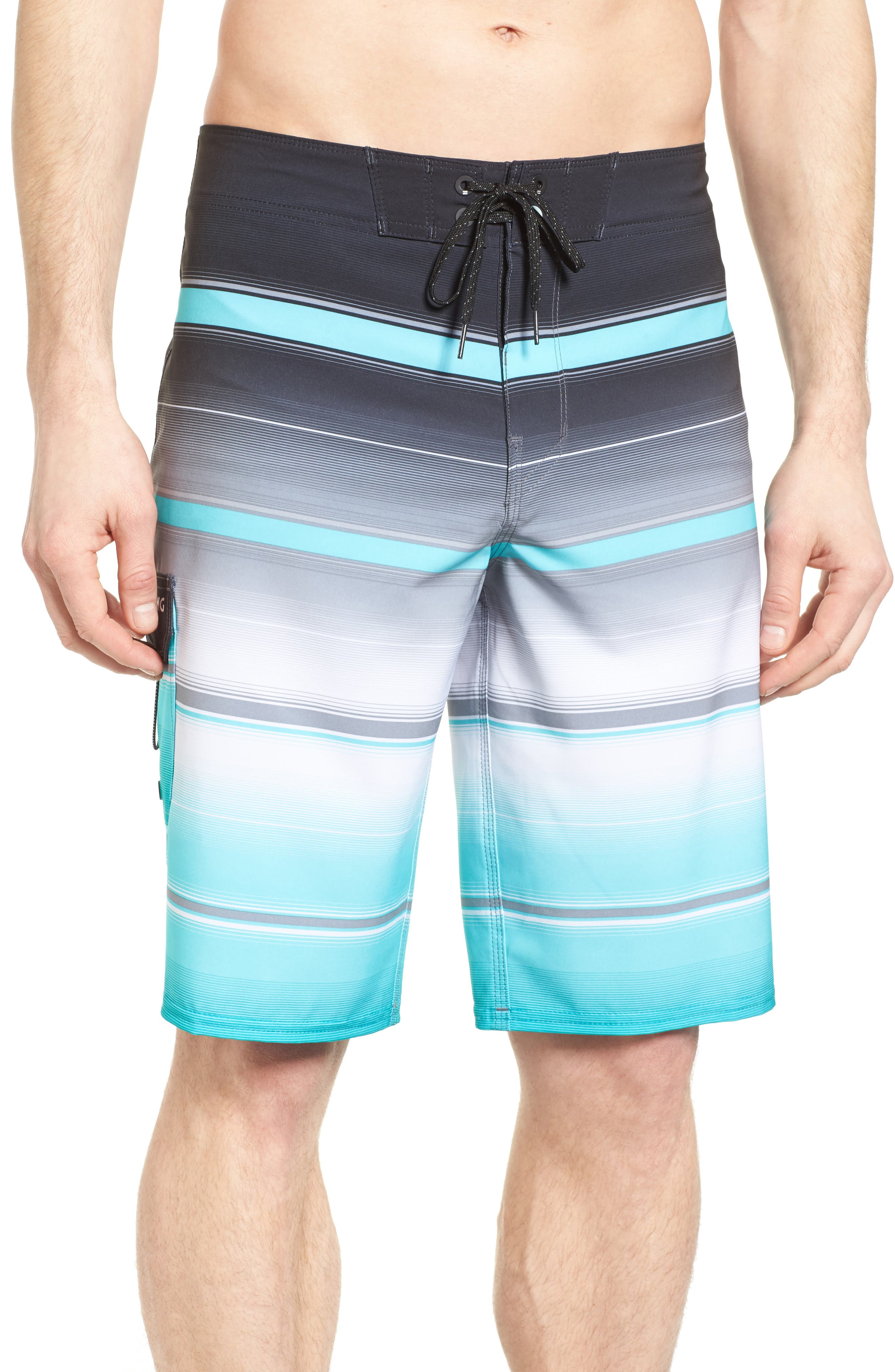 All Day X Stripe Board Shorts,                             Main thumbnail 1, color,