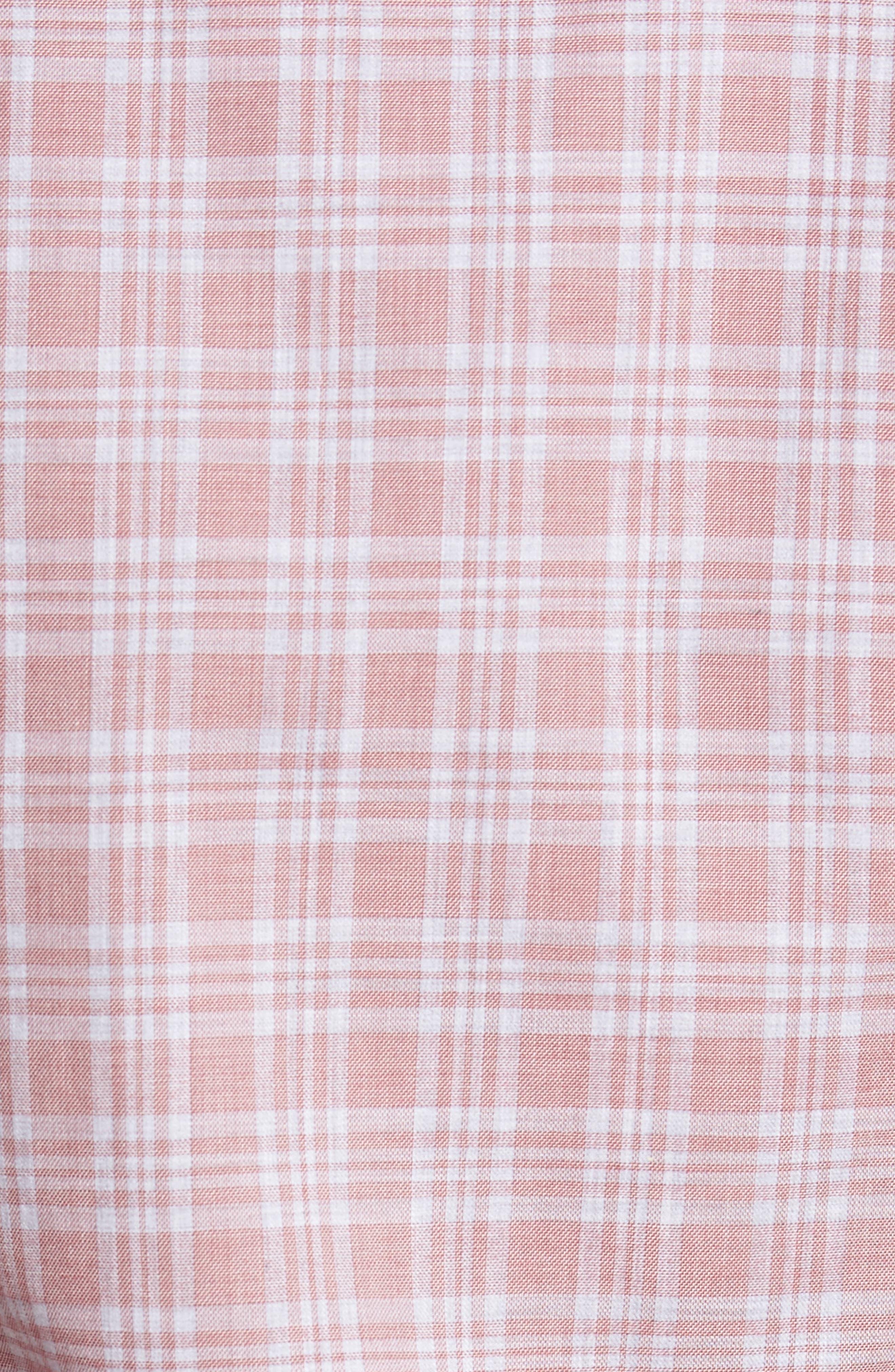 Slim Fit Plaid Sport Shirt,                             Alternate thumbnail 5, color,                             650