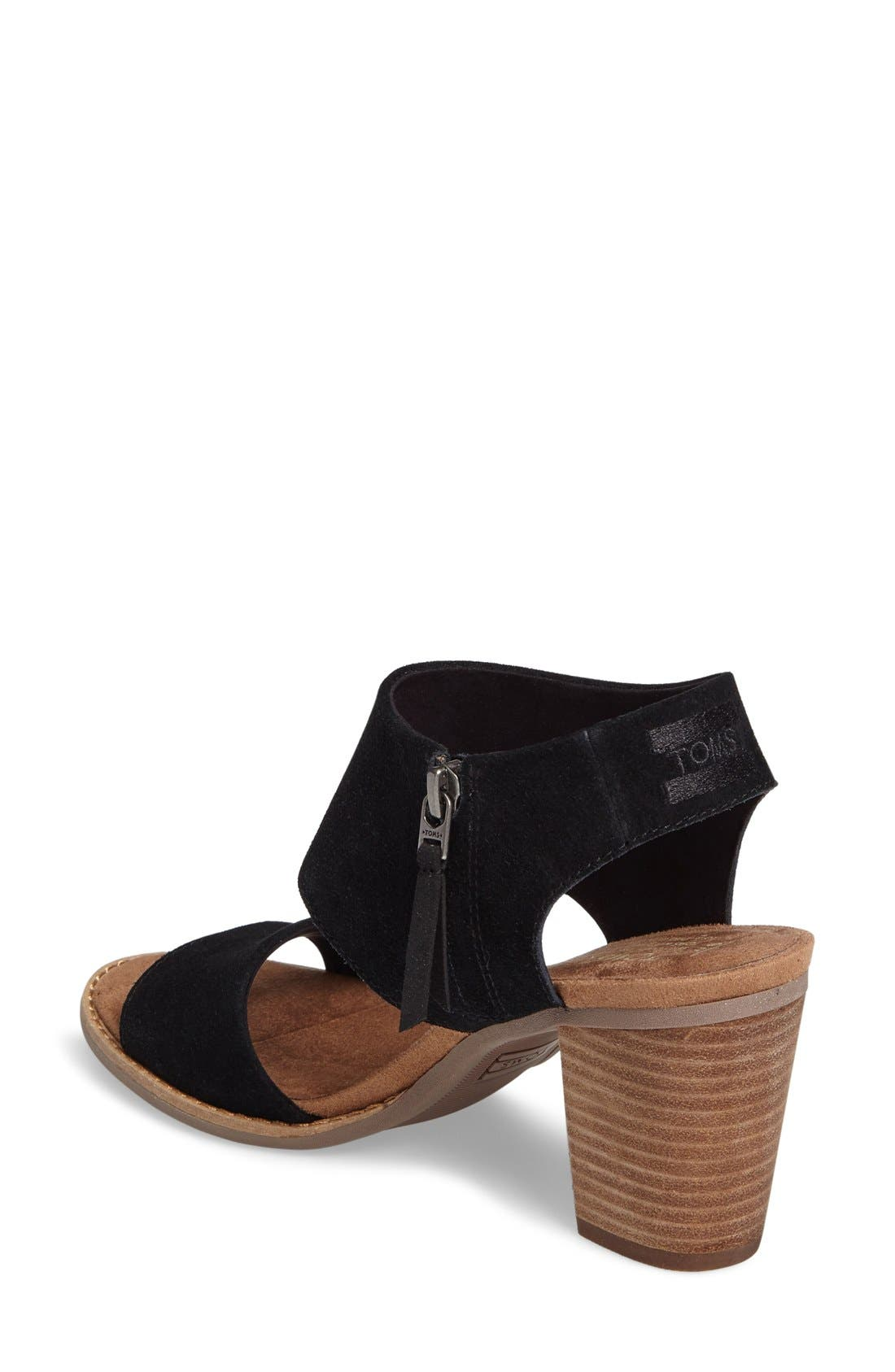 Majorca Sandal,                             Alternate thumbnail 5, color,                             BLACK