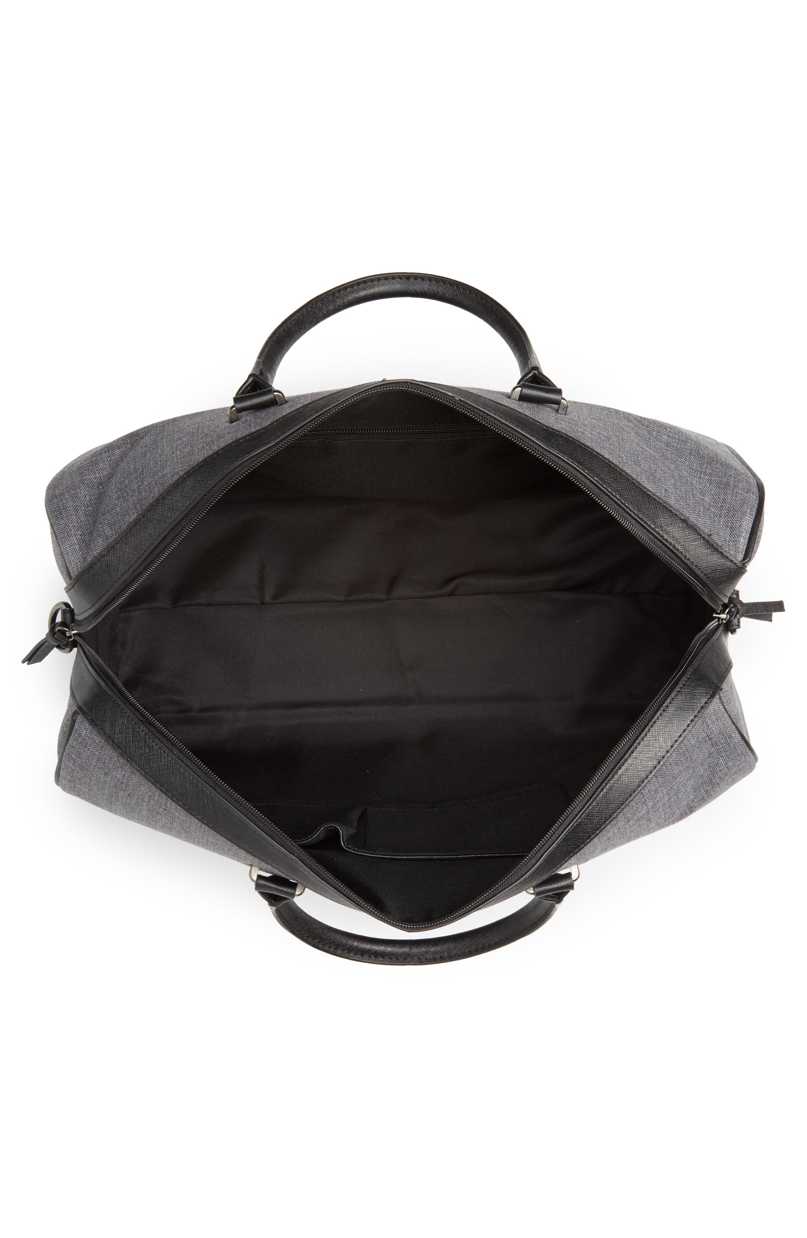 Caper Duffel Bag,                             Alternate thumbnail 4, color,                             CHARCOAL