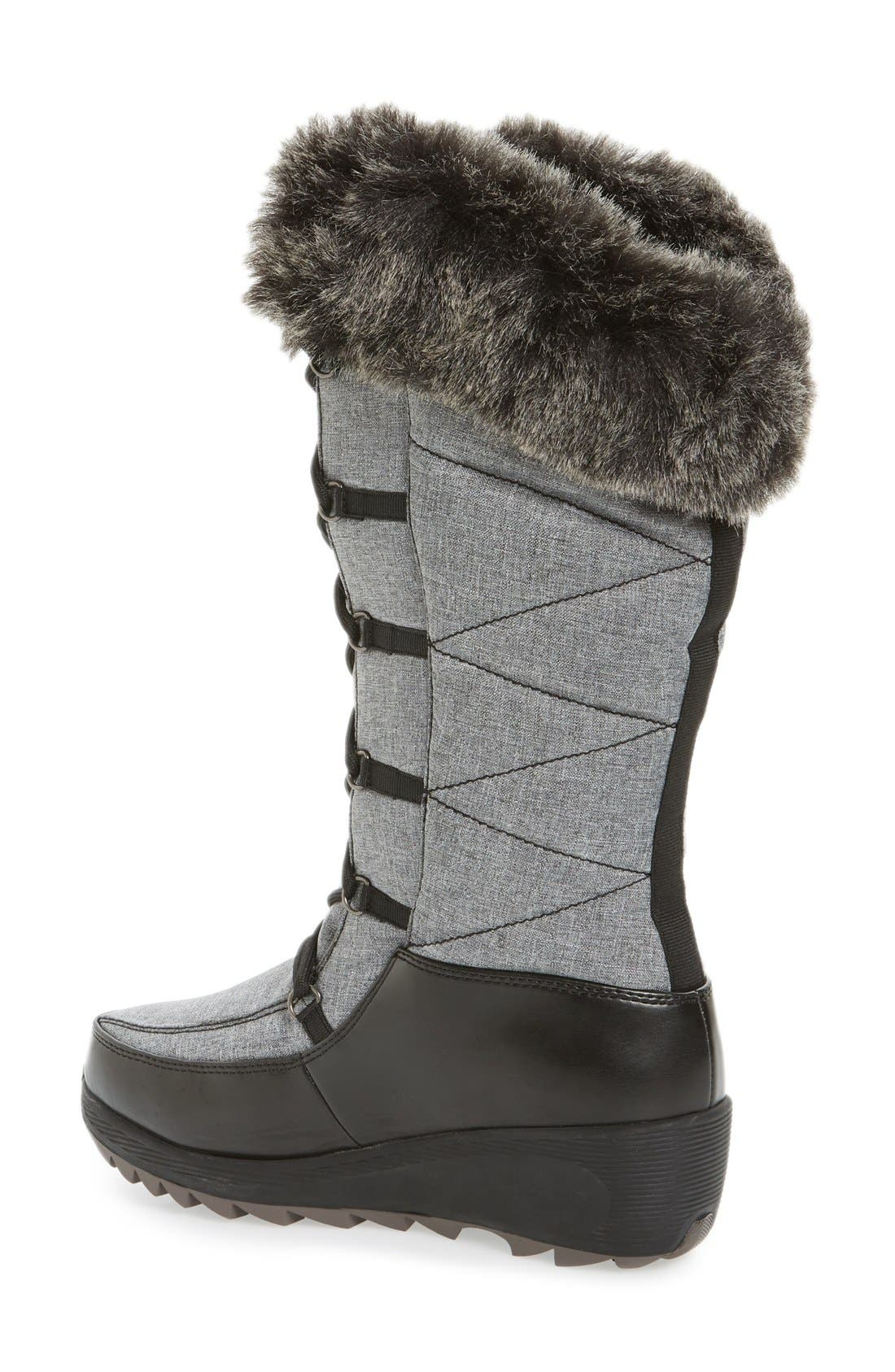 Pinot Waterproof Boot with Faux Fur Cuff,                             Alternate thumbnail 2, color,                             029