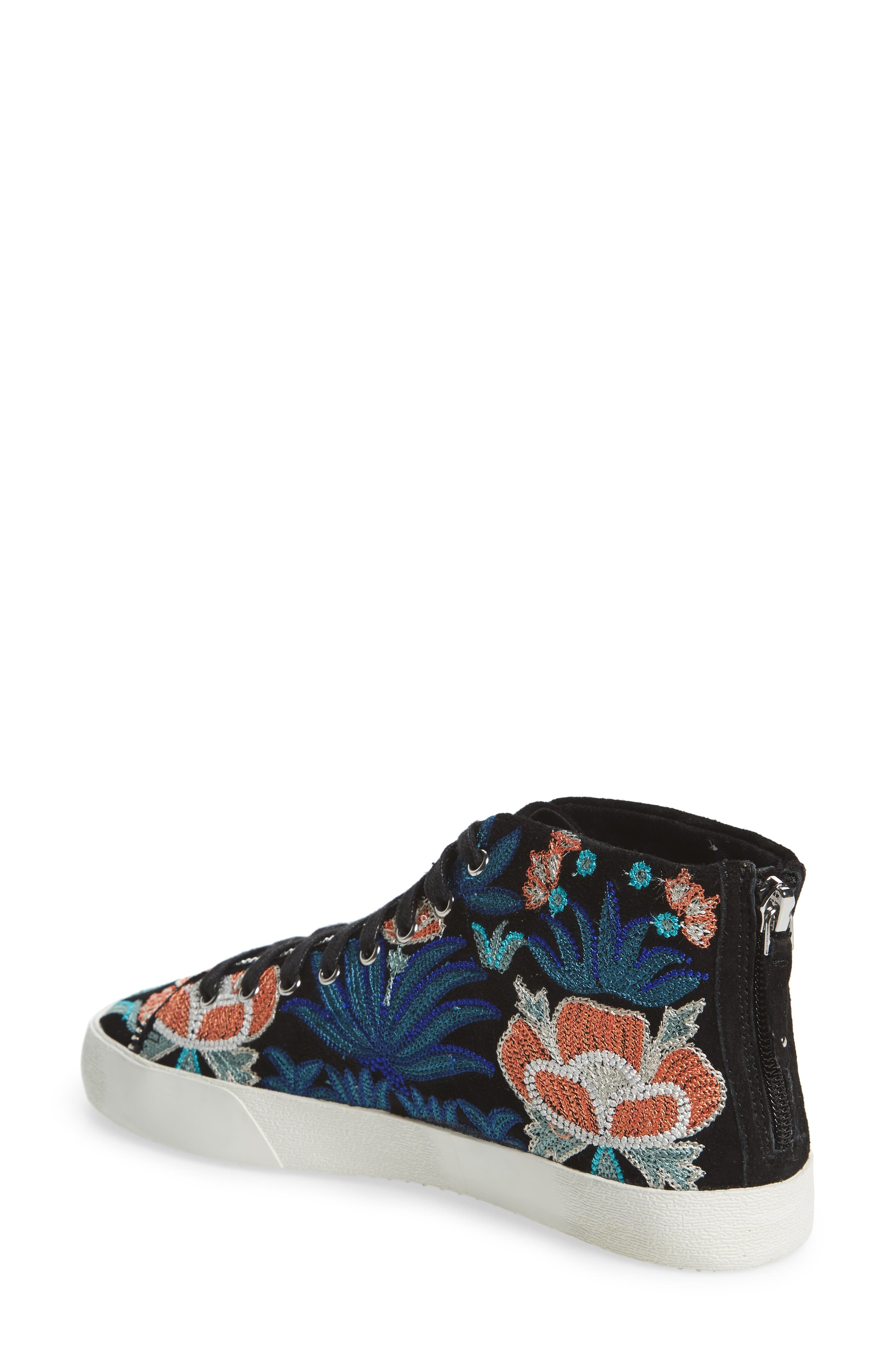 Zaina Embroidered Sneaker,                             Alternate thumbnail 2, color,                             004