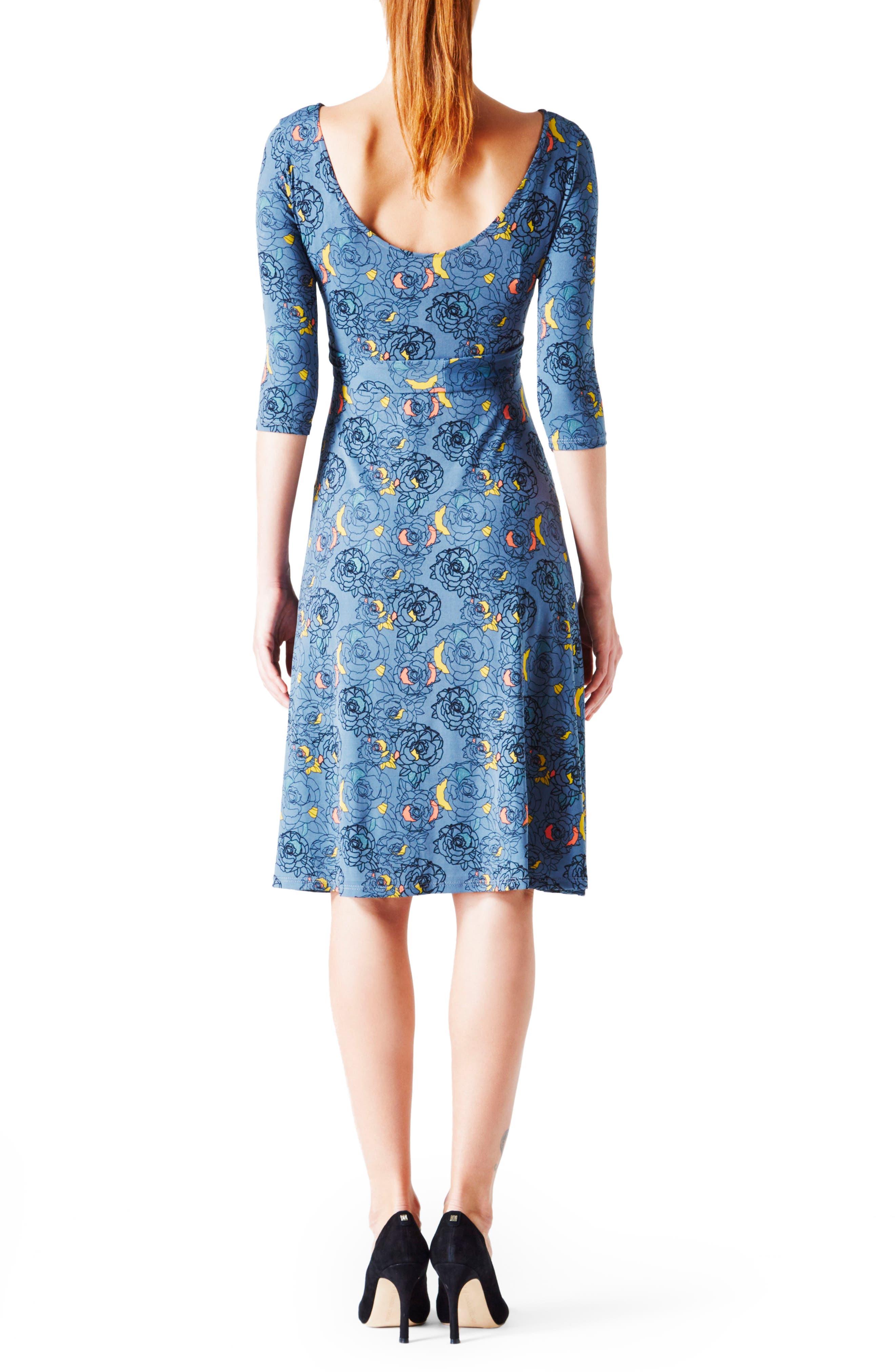 'Ilana' Belted Maternity Dress,                             Alternate thumbnail 28, color,