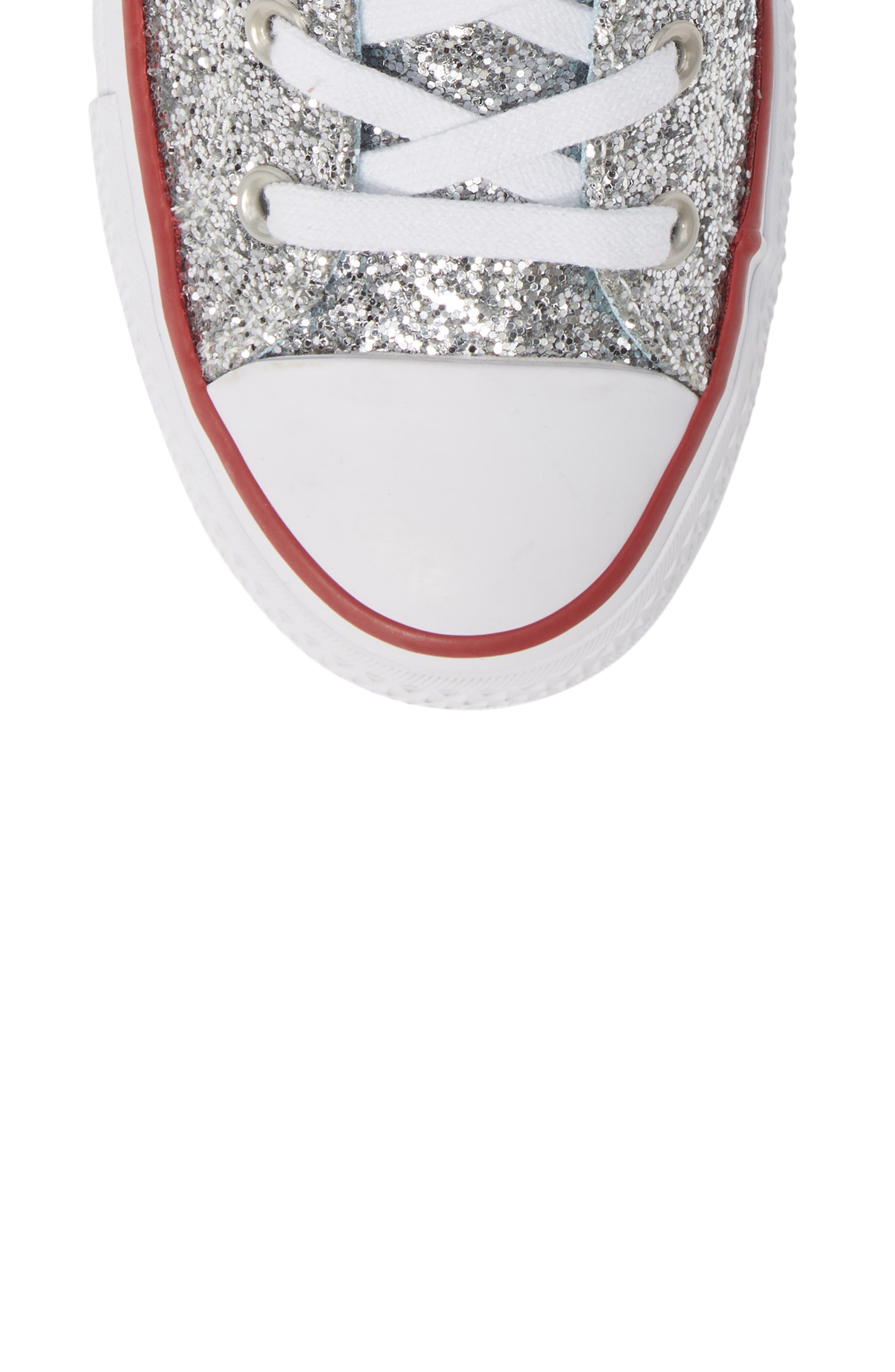 CONVERSE,                             x Chiara Ferragni 70 Hi One Star Glitter Platform Sneaker,                             Alternate thumbnail 5, color,                             040