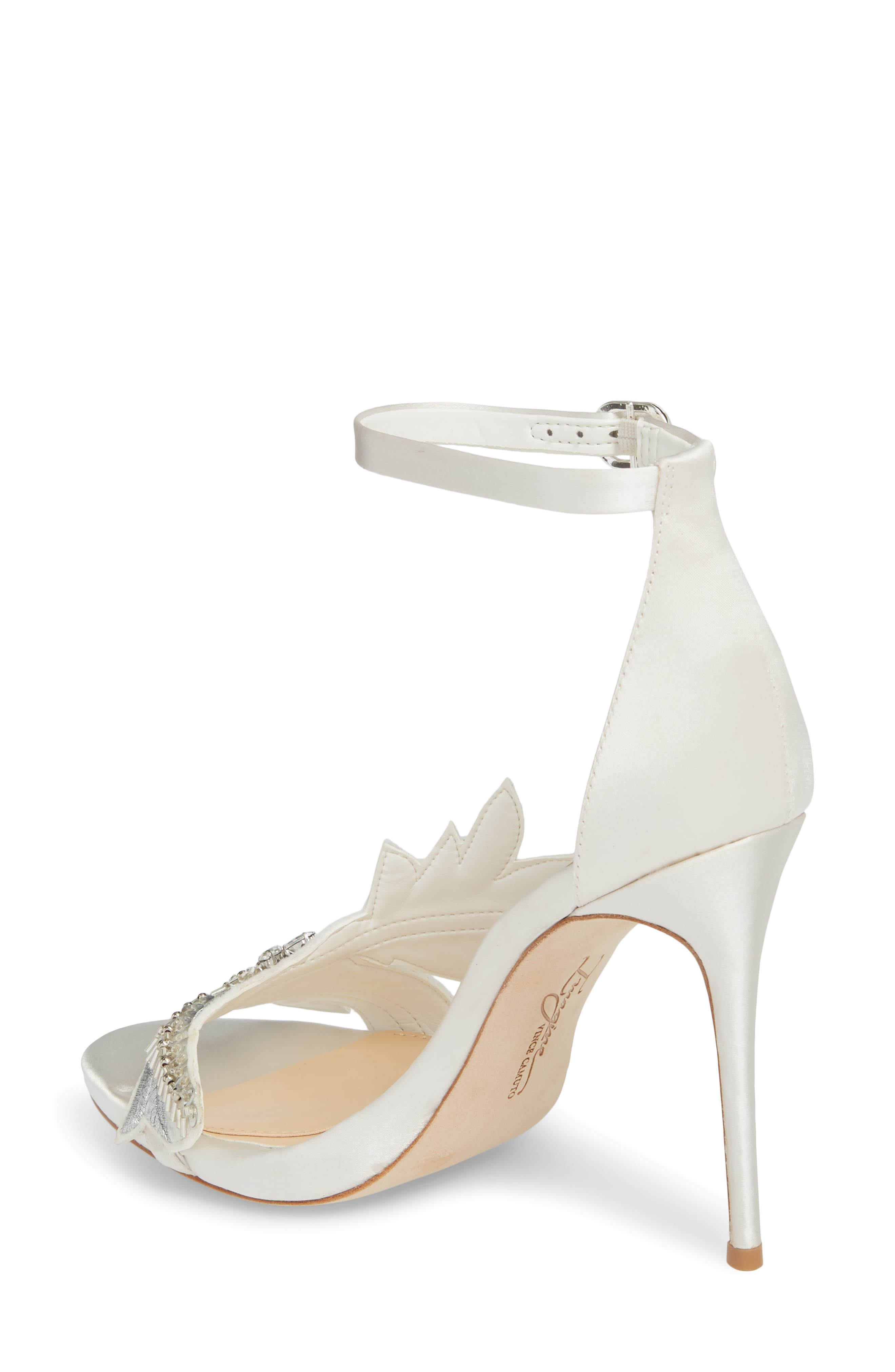 Imagine Vince Camuto Dayanara Embellished Sandal,                             Alternate thumbnail 2, color,                             PURE WHITE SATIN