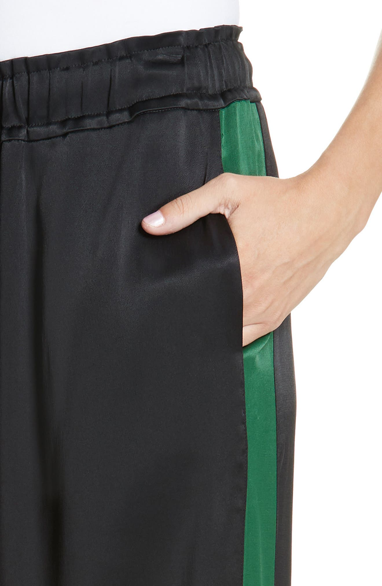 Wide Leg Pants,                             Alternate thumbnail 4, color,                             NOIR MULTI