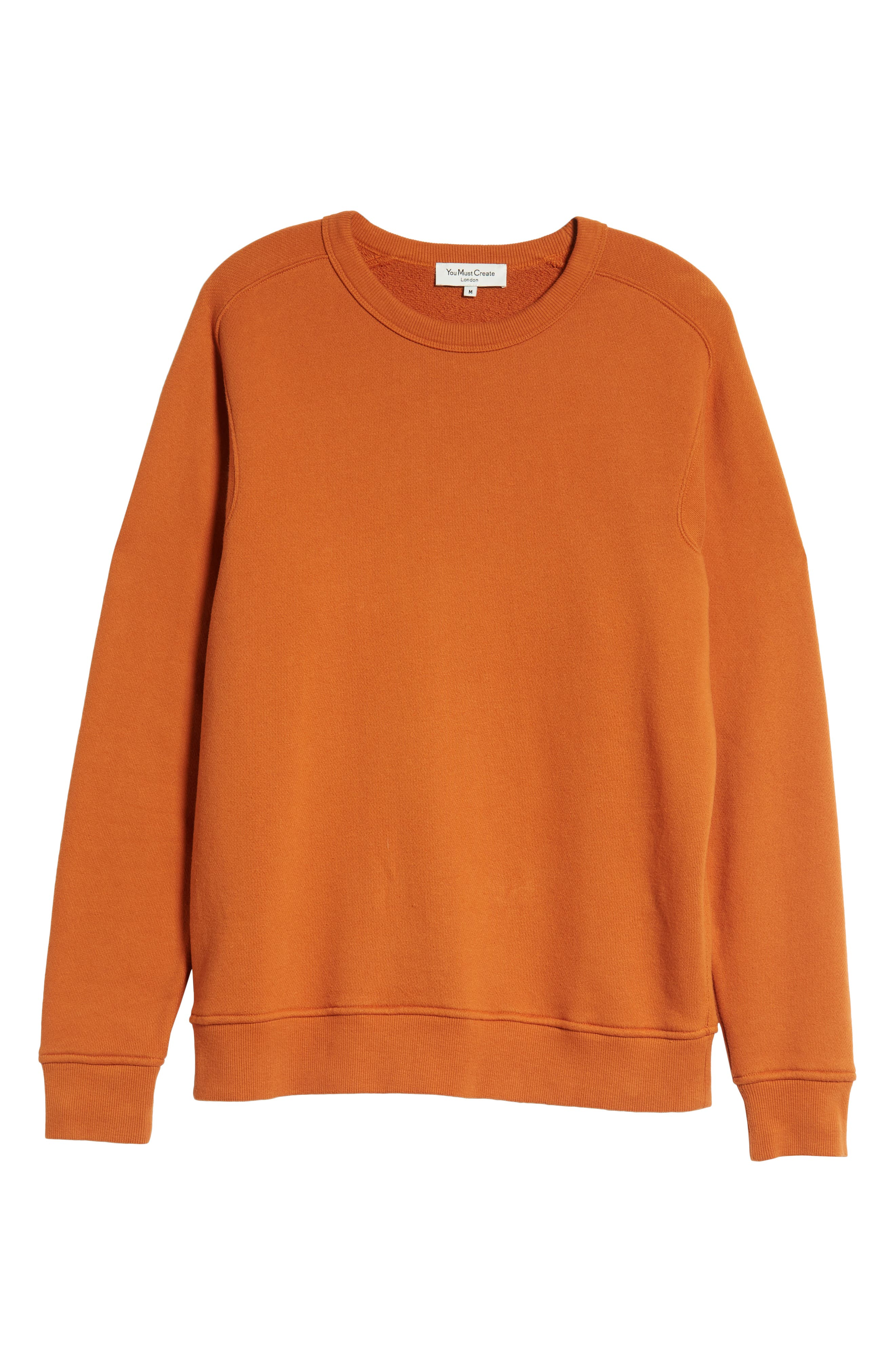 Almost Grown Crewneck Sweatshirt,                             Alternate thumbnail 6, color,                             RUST