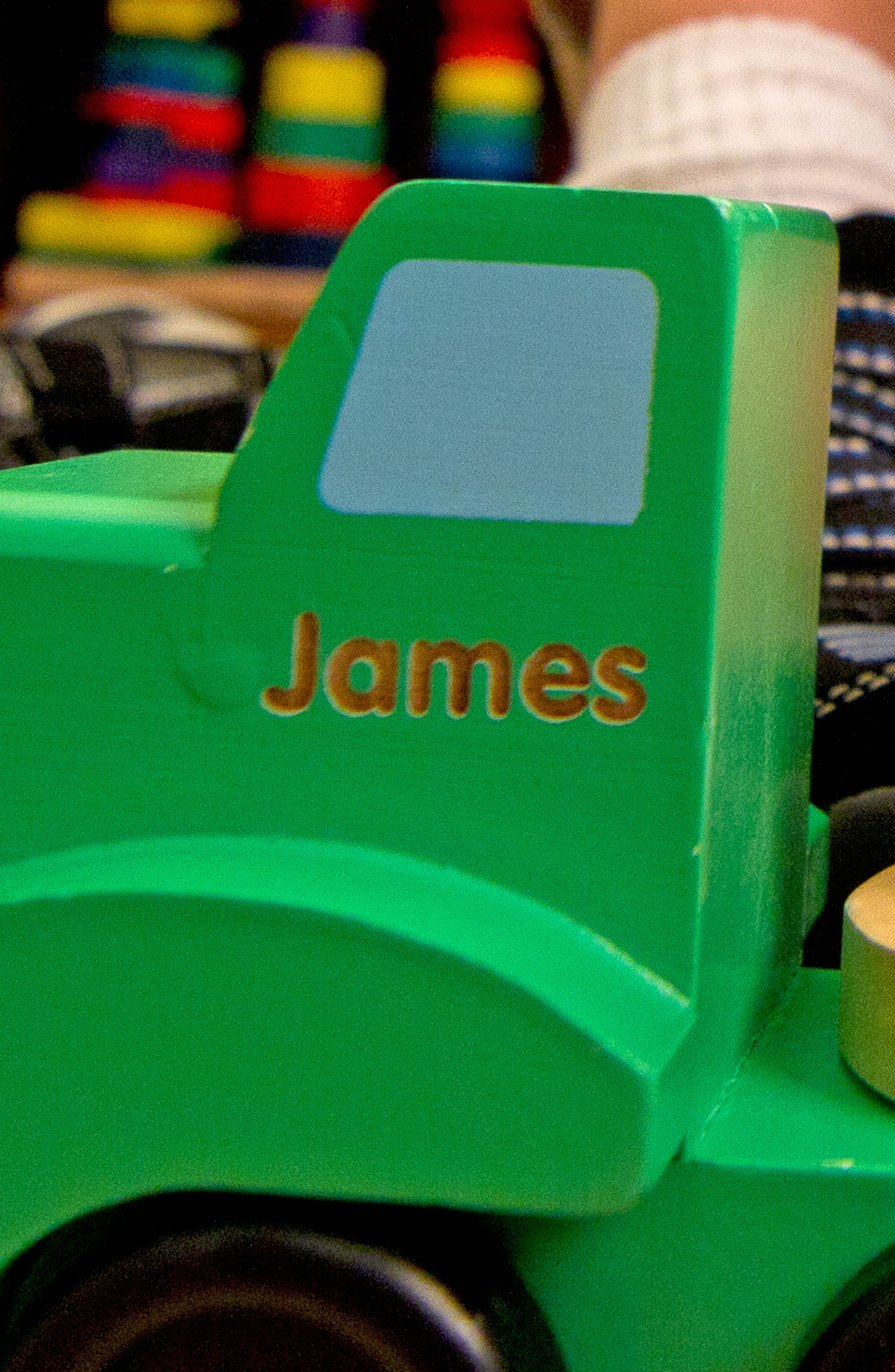 Personalized Wooden Car Carrier,                             Alternate thumbnail 3, color,                             GREEN