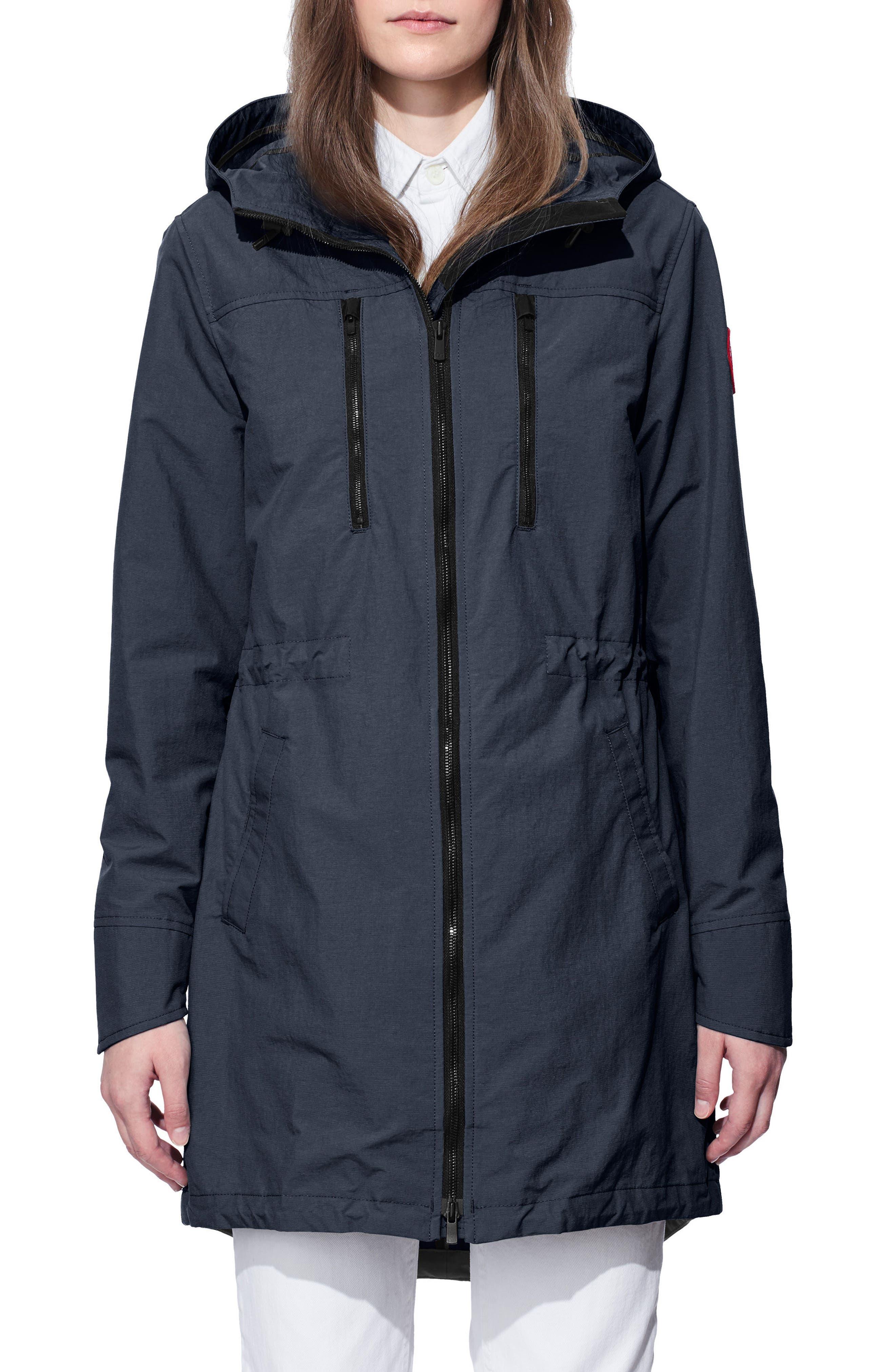 Brossard Hooded Drop Tail Jacket,                             Main thumbnail 2, color,