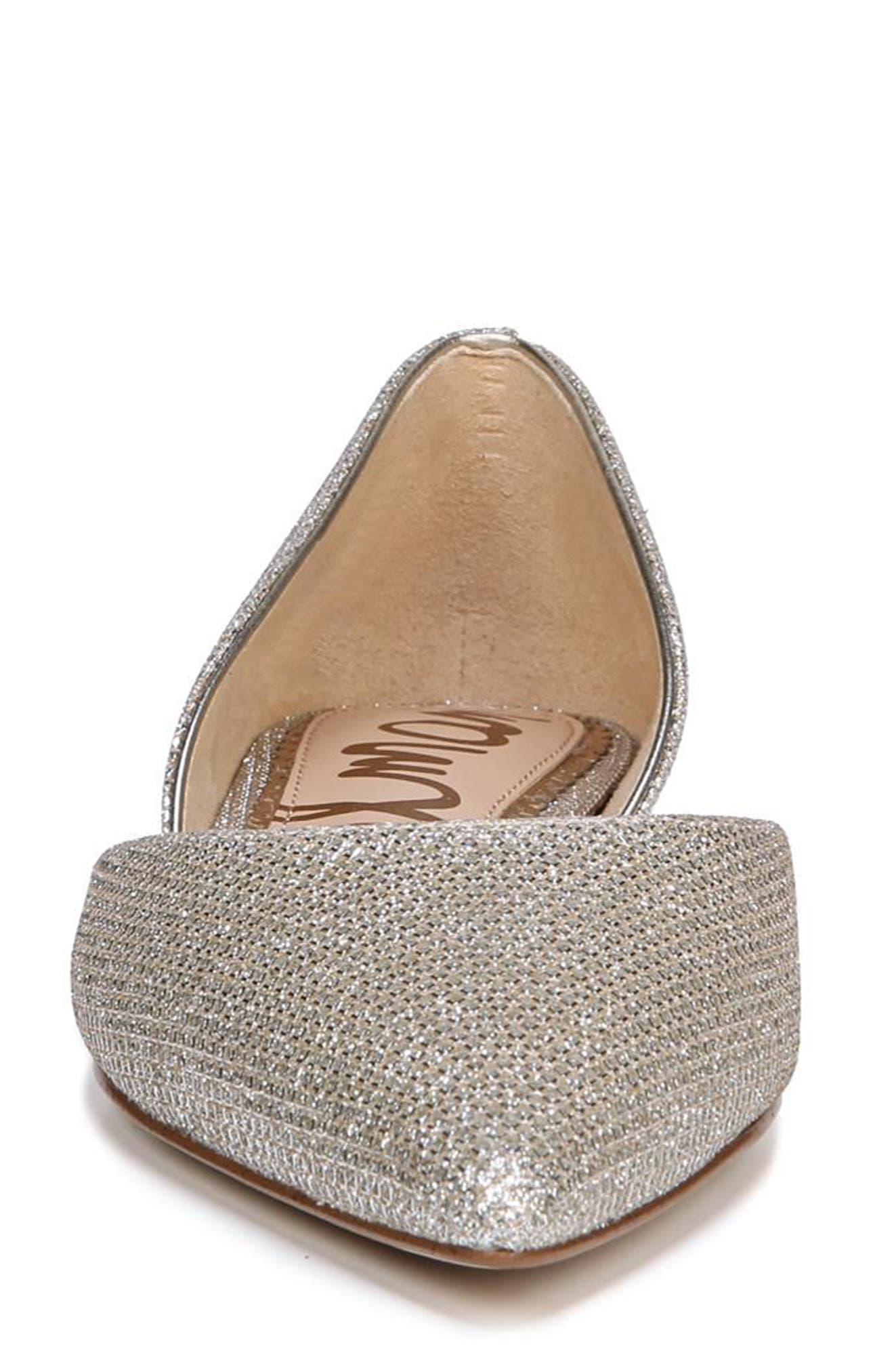 Rodney Pointy Toe d'Orsay Flat,                             Alternate thumbnail 4, color,                             JUTE GLAM FABRIC