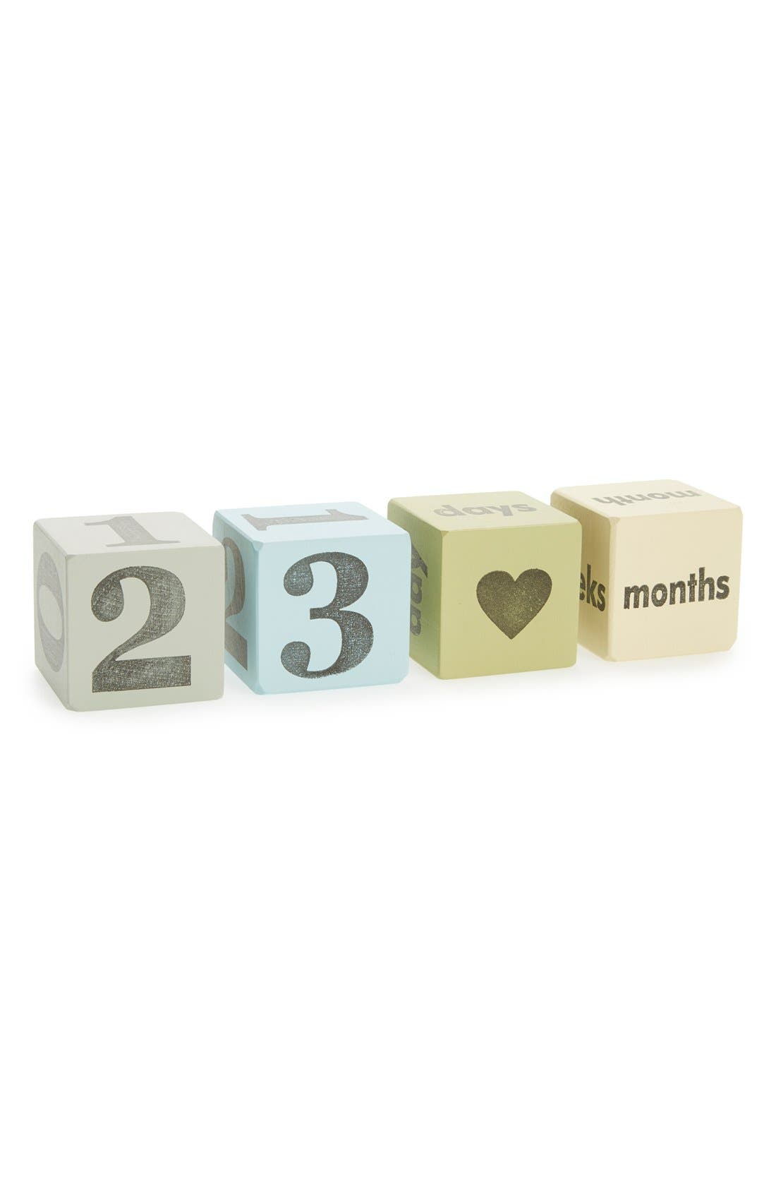 Wooden Keepsake Blocks,                         Main,                         color, BLUE