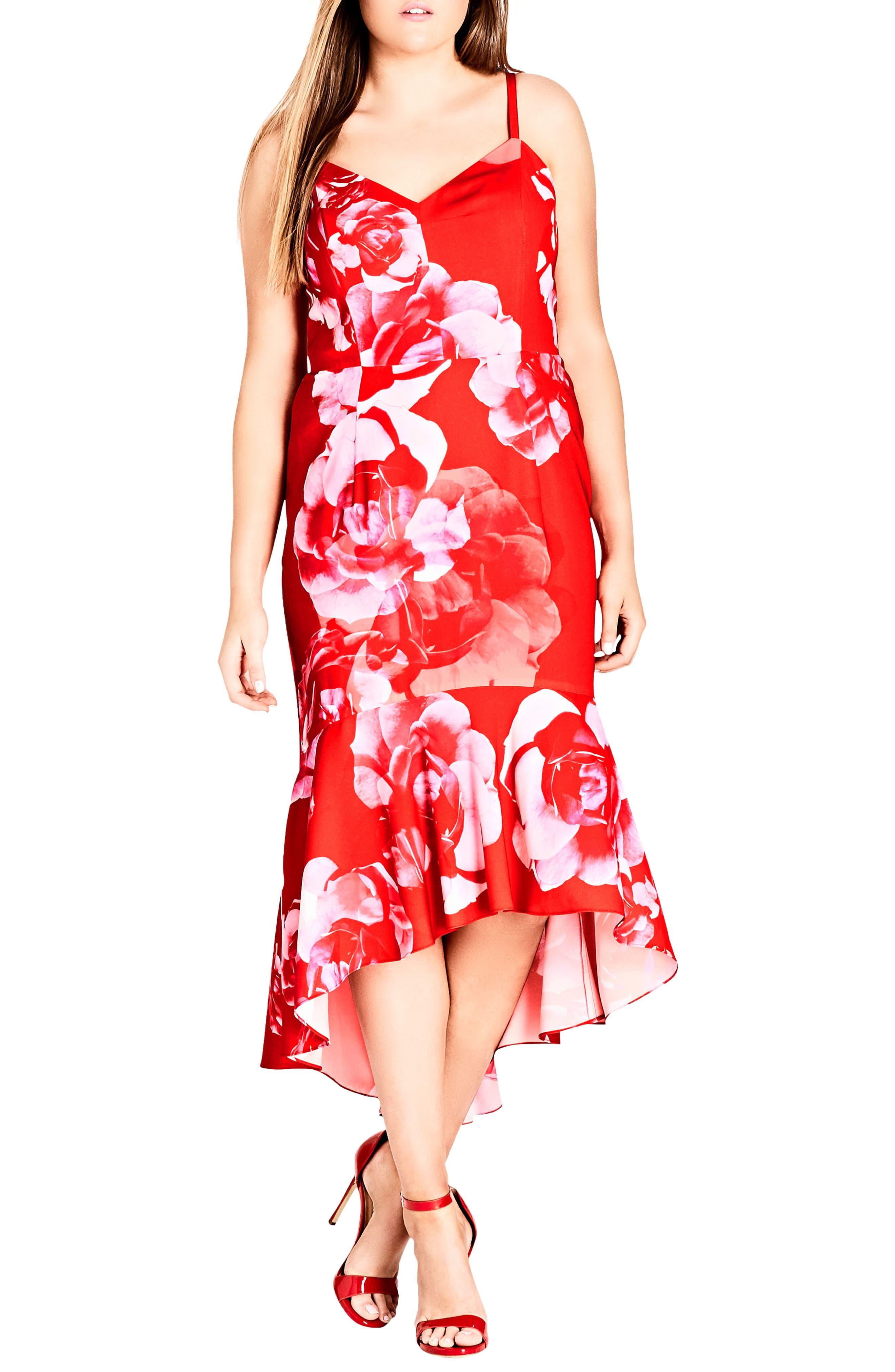 Tango Floral Dress,                         Main,                         color, 614
