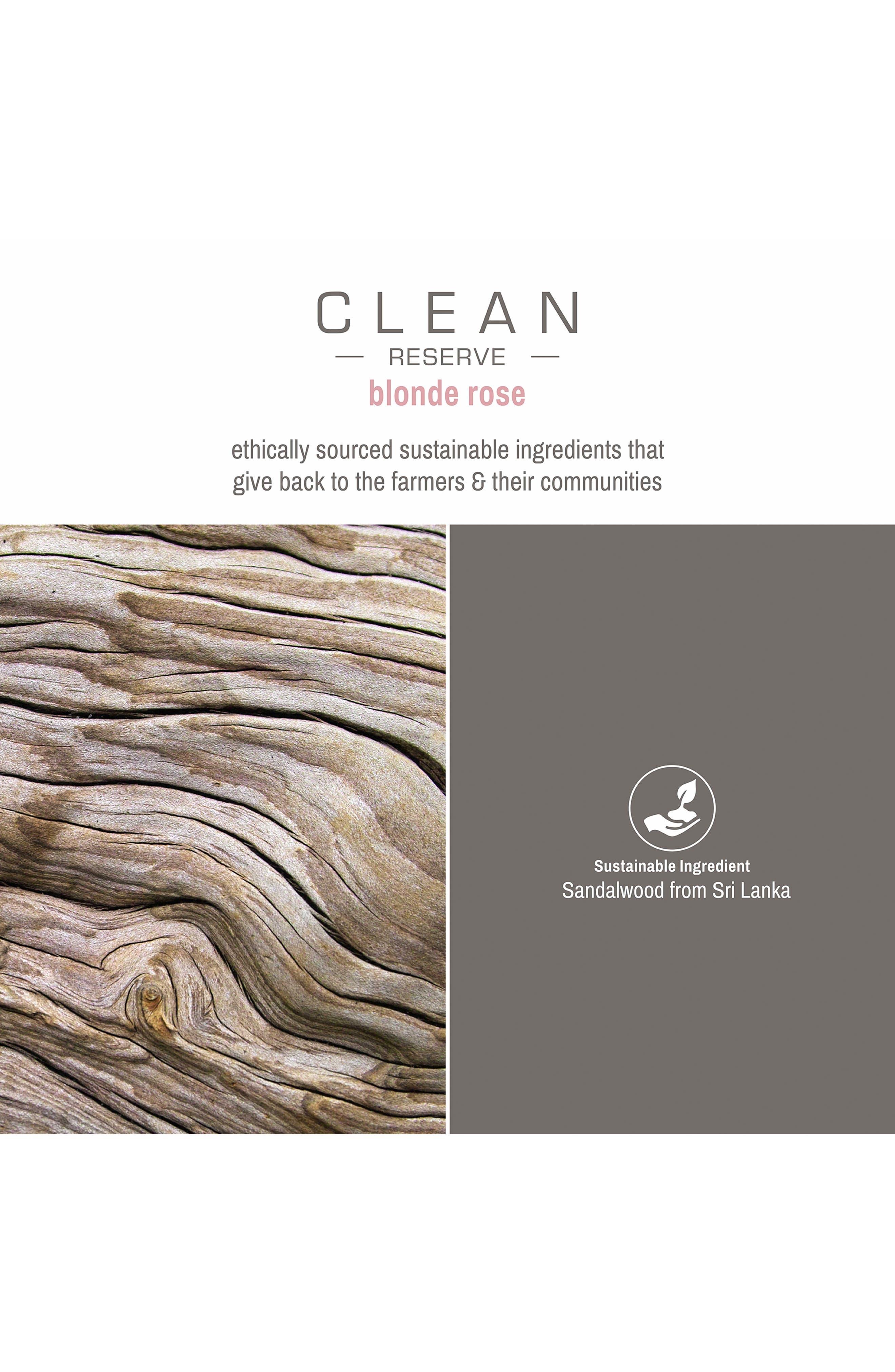 CLEAN RESERVE,                             Blonde Rose Eau de Parfum,                             Alternate thumbnail 3, color,                             NO COLOR