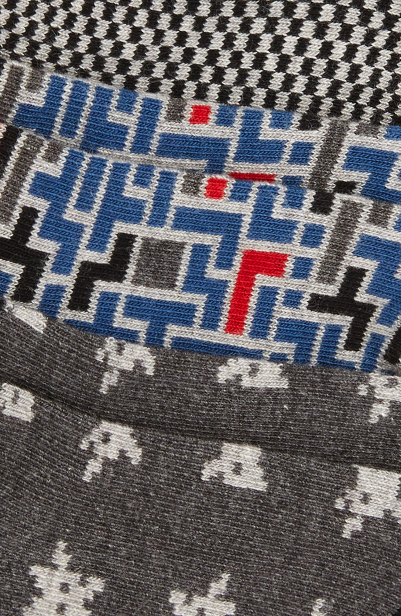 Digital Alien 6-Pack Low Cut Socks,                             Alternate thumbnail 2, color,