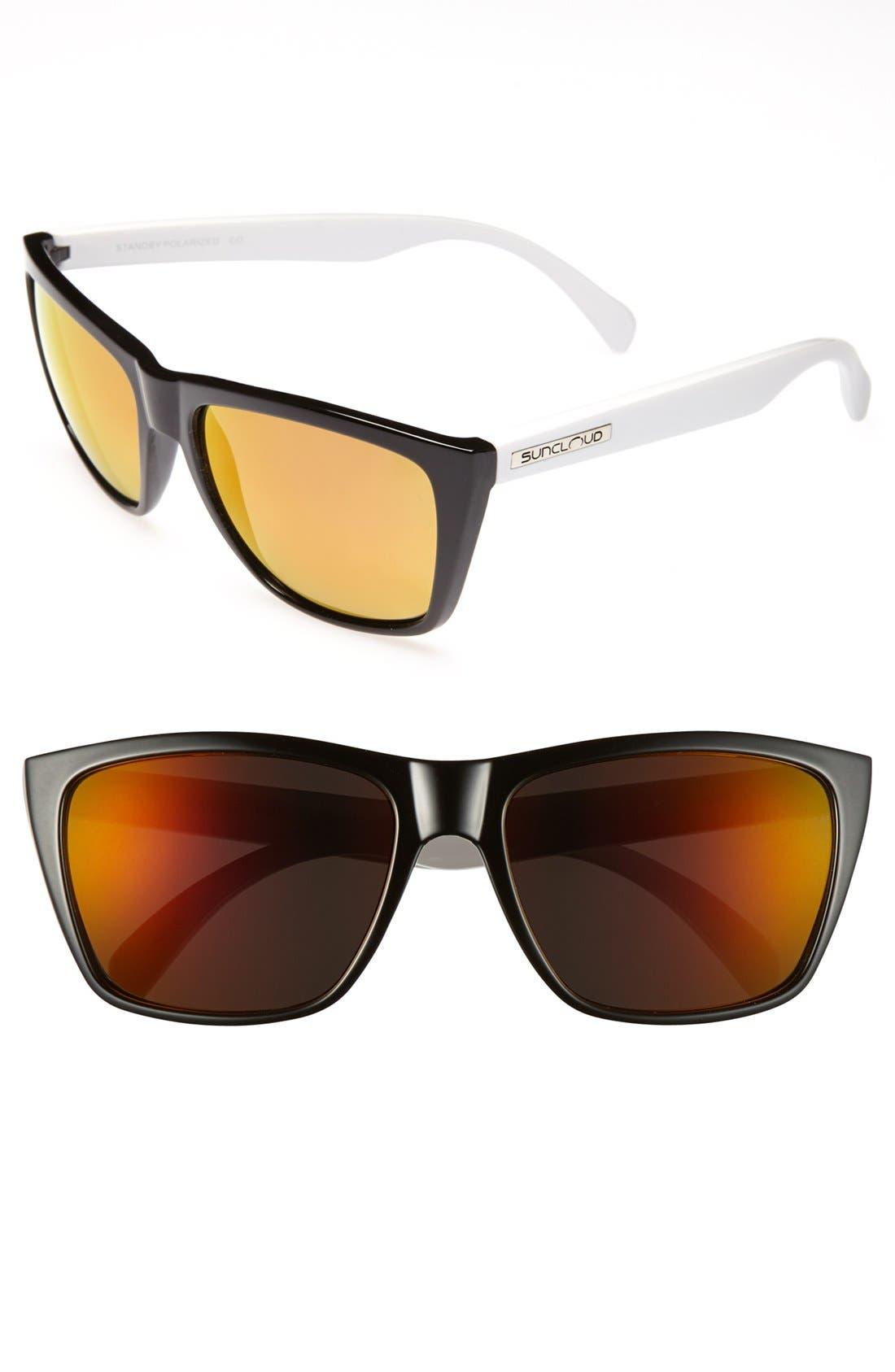 'Standby' Polarized Sunglasses, Main, color, 001