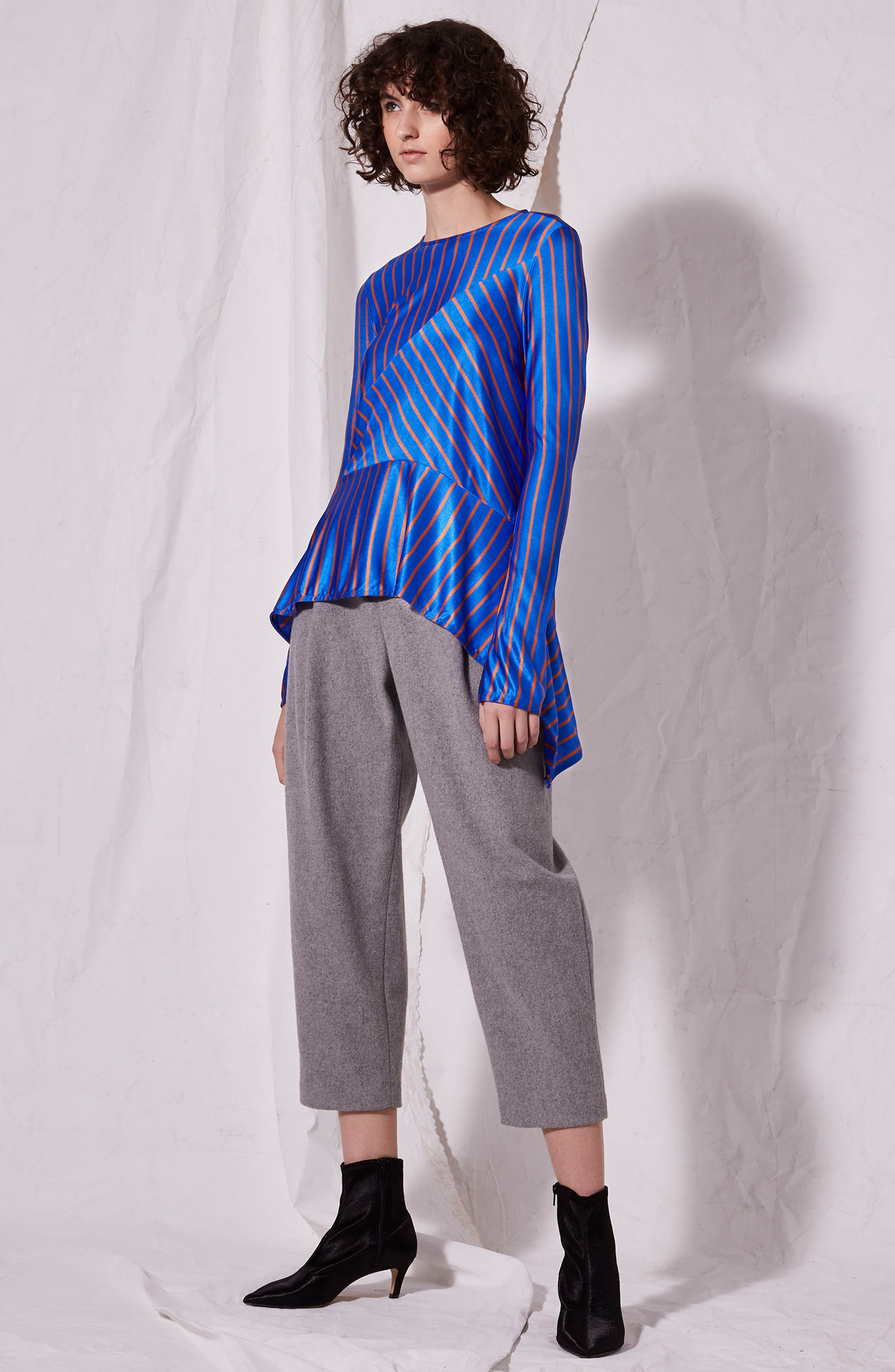 Cutabout Stripe Top,                             Alternate thumbnail 4, color,