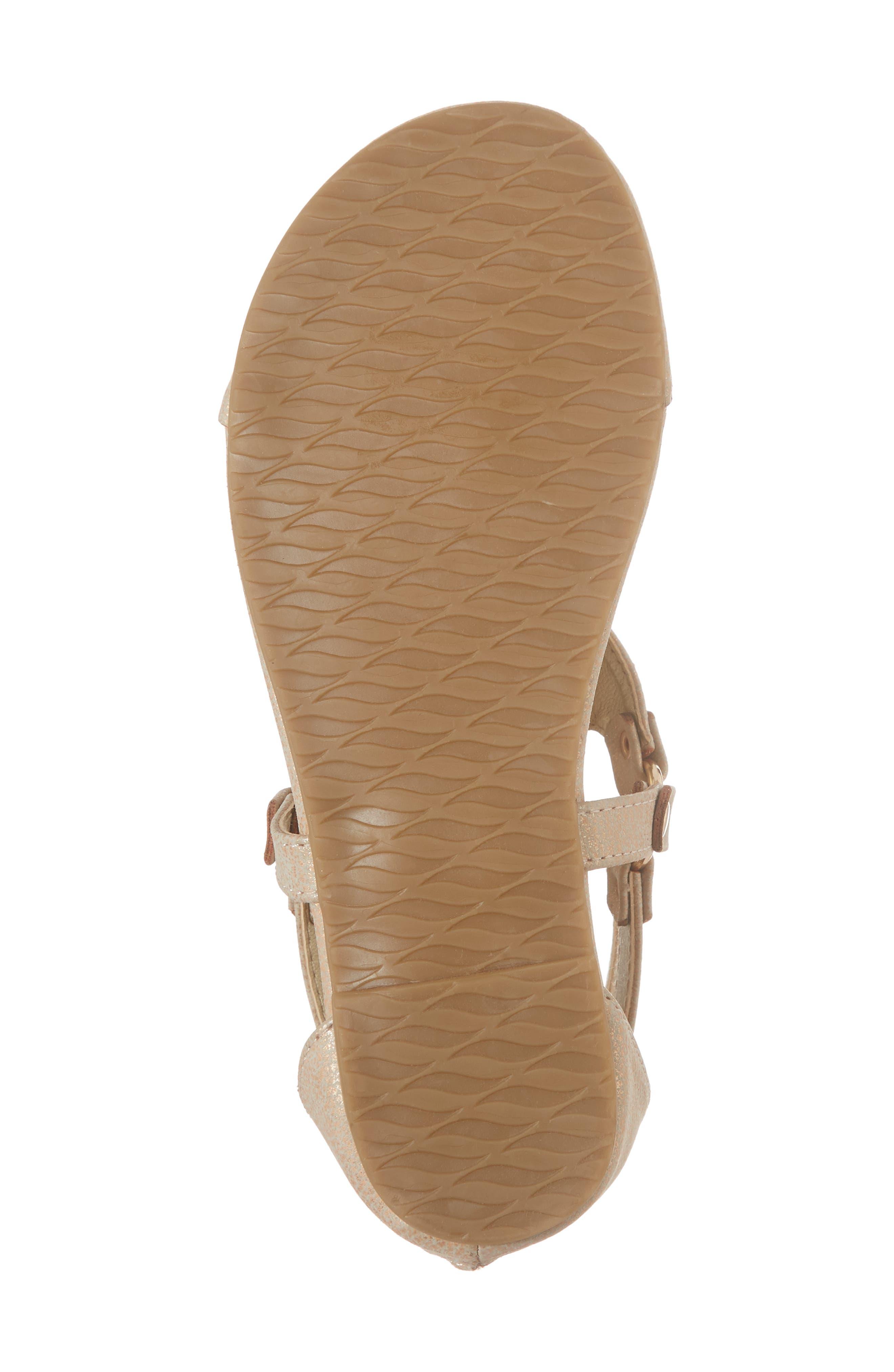 Reaction Kenneth Cole Kiera Metallic Thong Sandal,                             Alternate thumbnail 6, color,