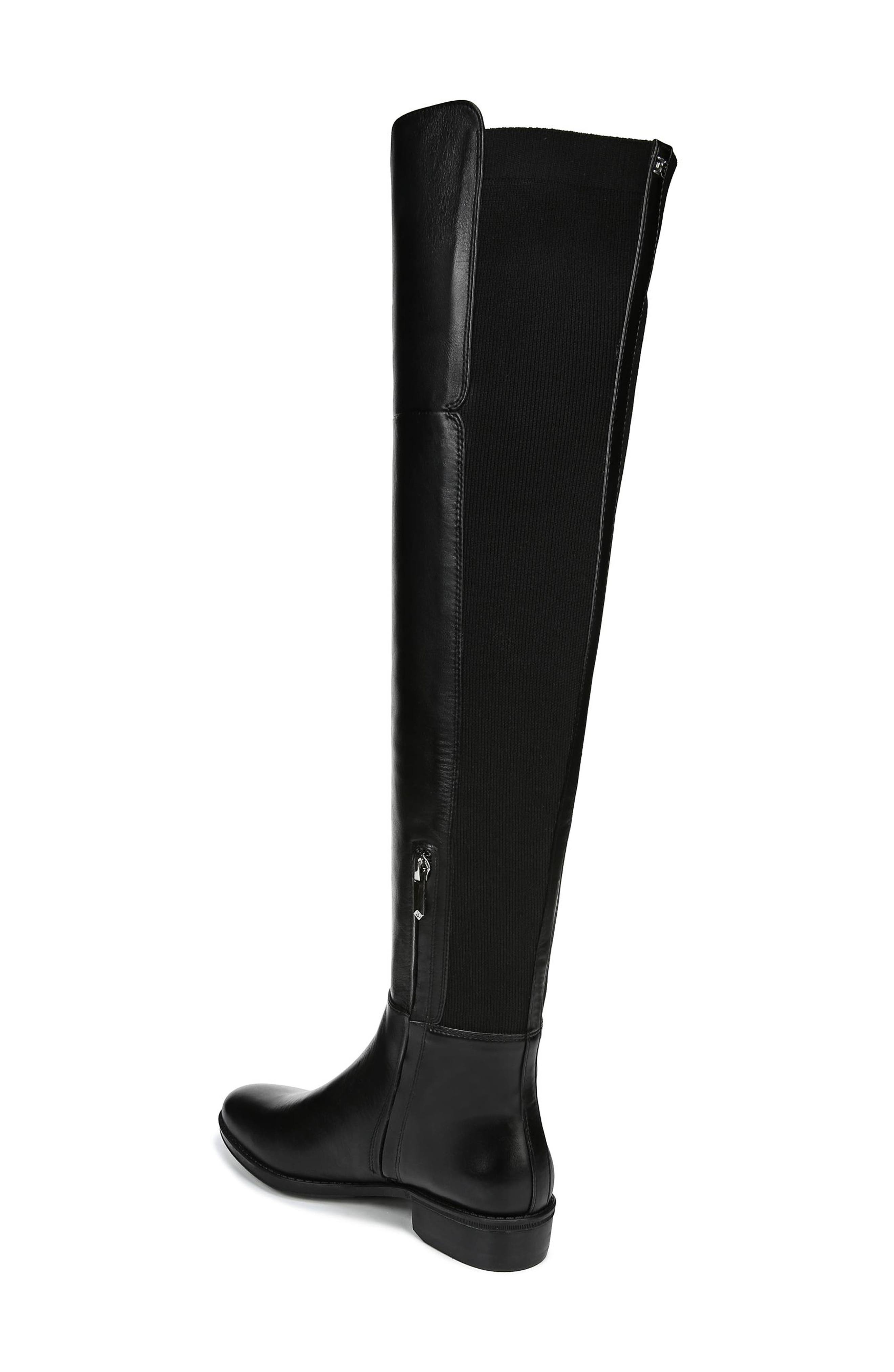 Pam Over the Knee Boot,                             Alternate thumbnail 2, color,                             BLACK LEATHER