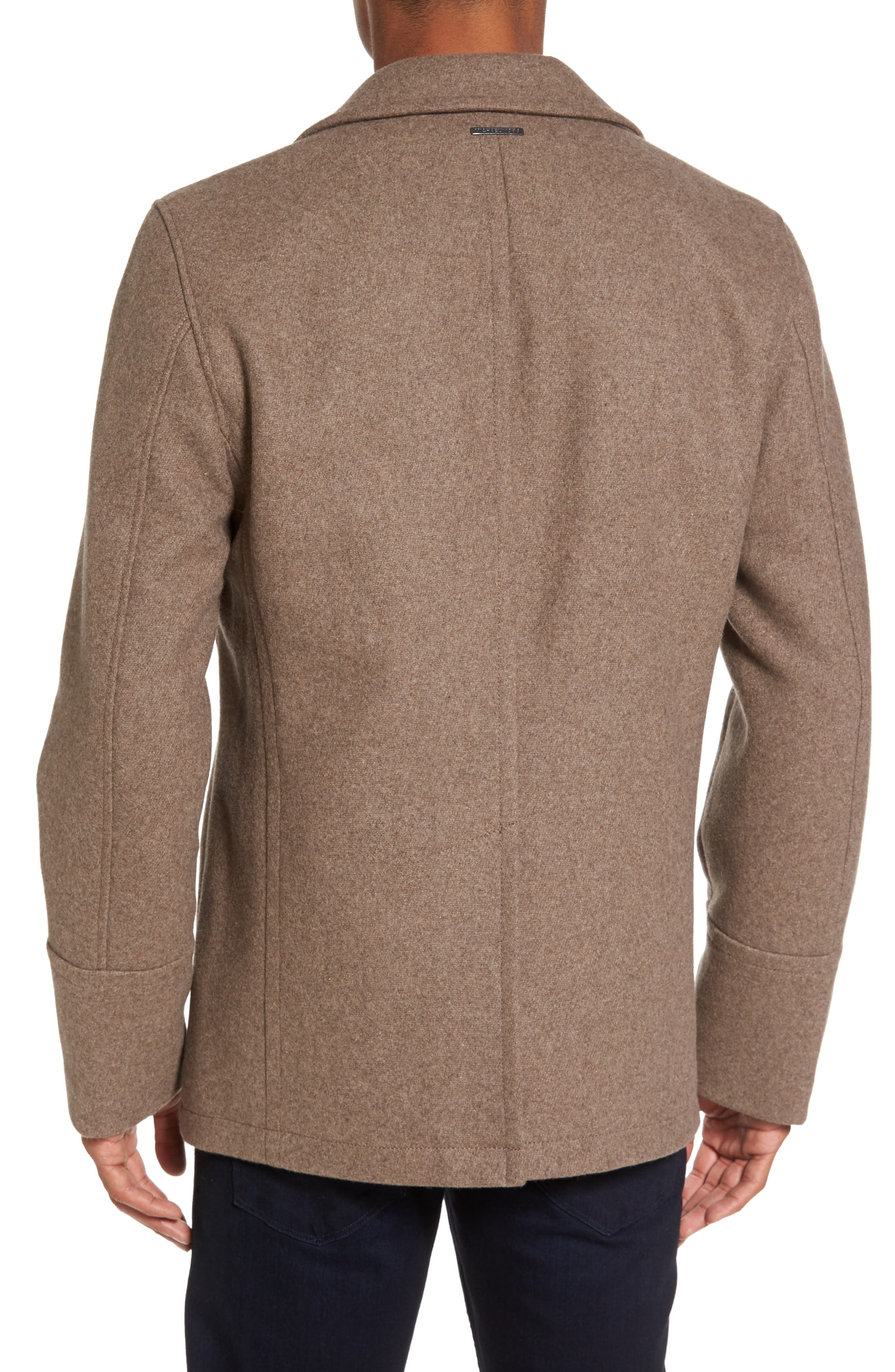 Wool Blend Double Breasted Peacoat,                             Alternate thumbnail 32, color,