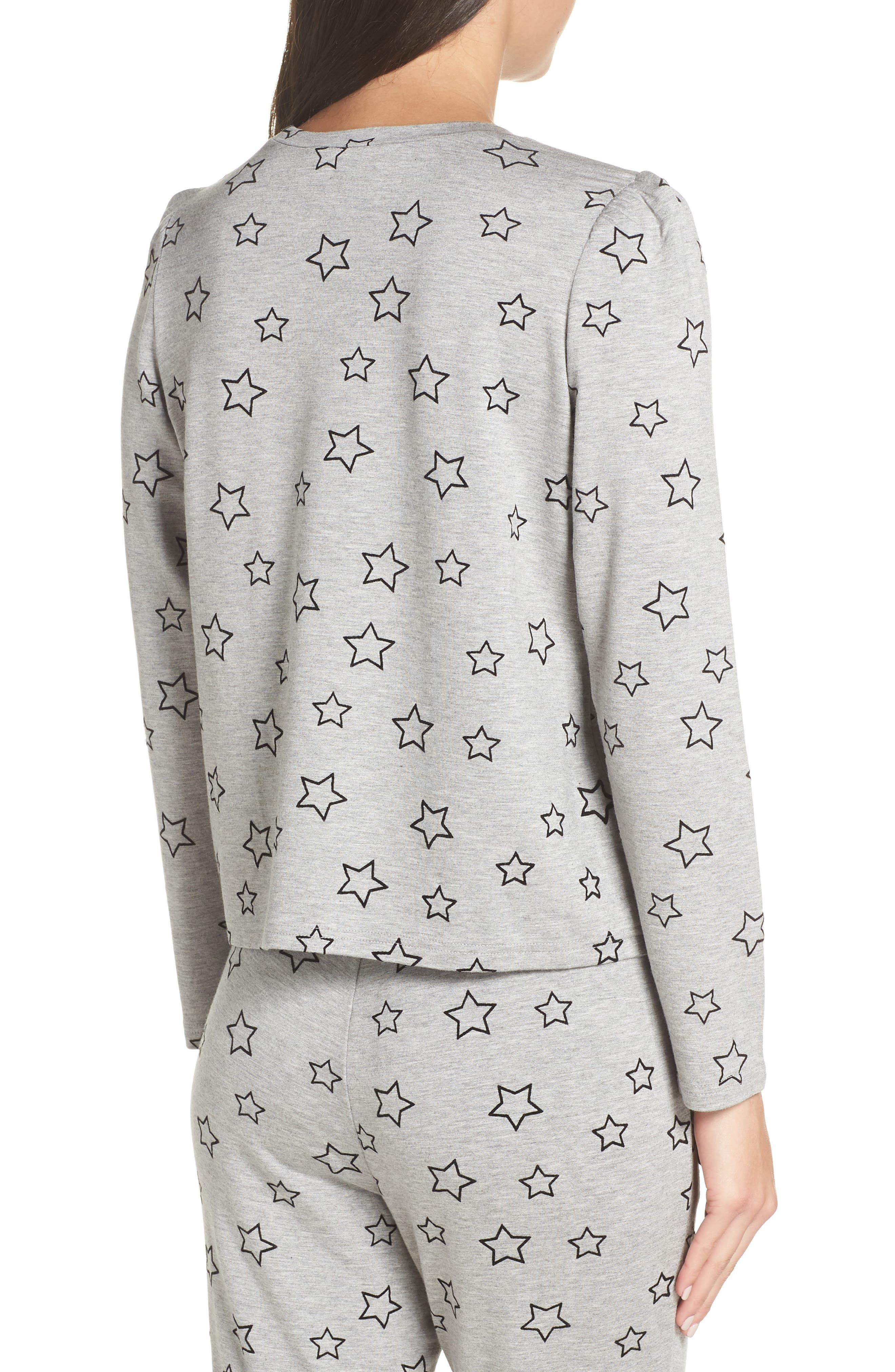 Seeing Stars Top,                             Alternate thumbnail 2, color,                             HEATHER GREY