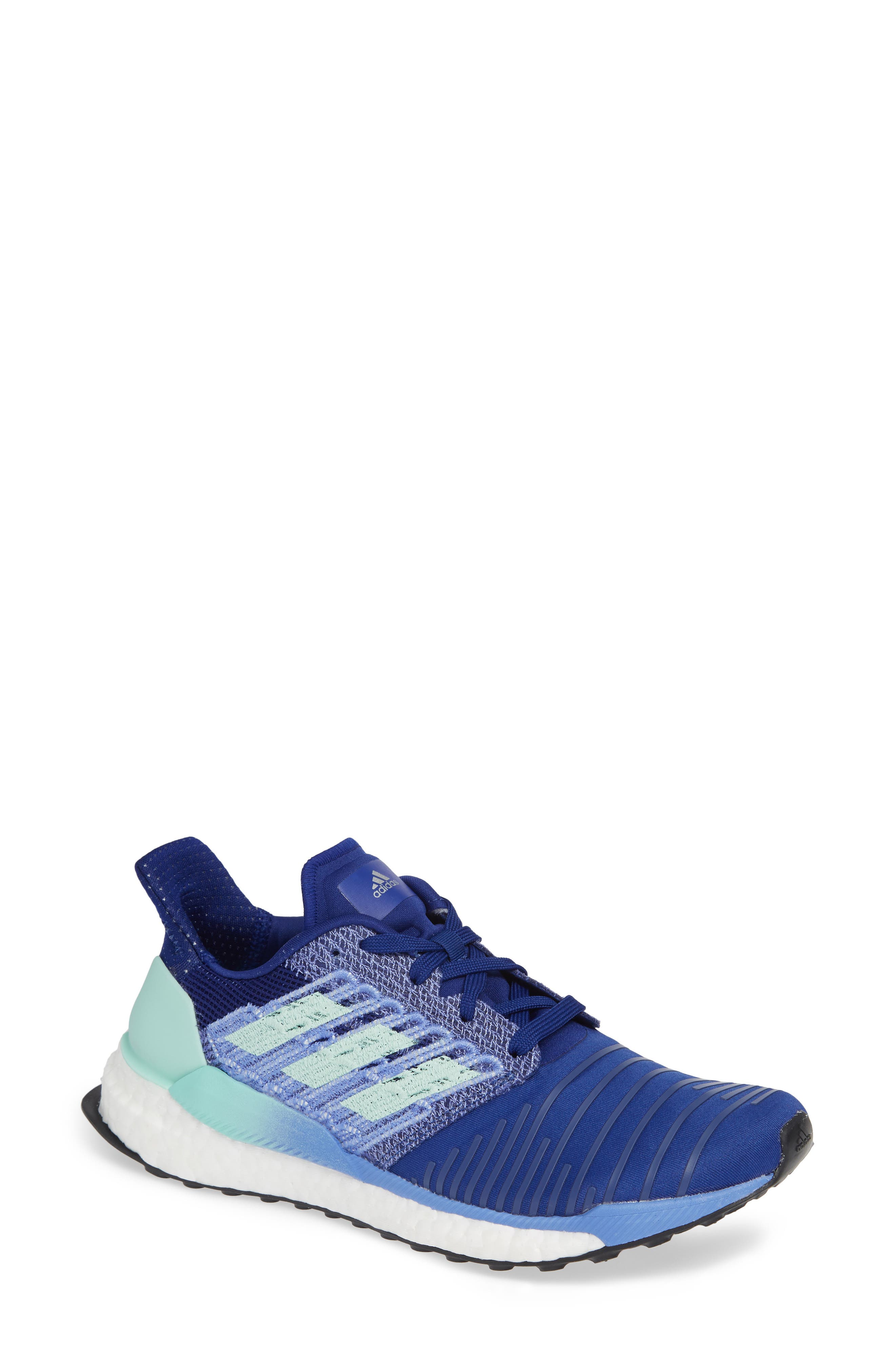 Solarboost Running Shoe,                             Main thumbnail 1, color,                             MYSTERY INK/ CLEAR MINT/ LILAC