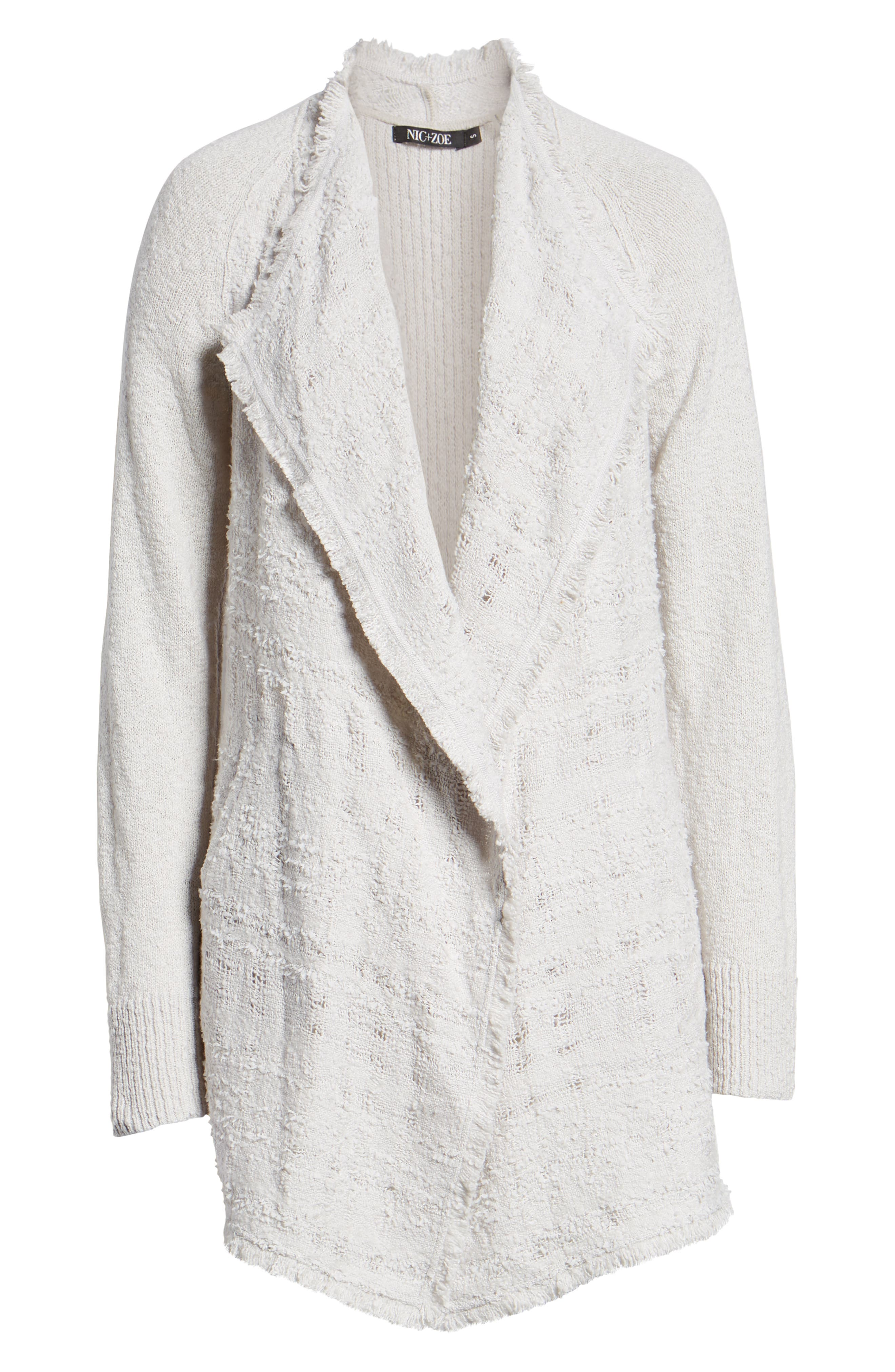 Carefree Cardigan,                             Alternate thumbnail 6, color,                             FROST